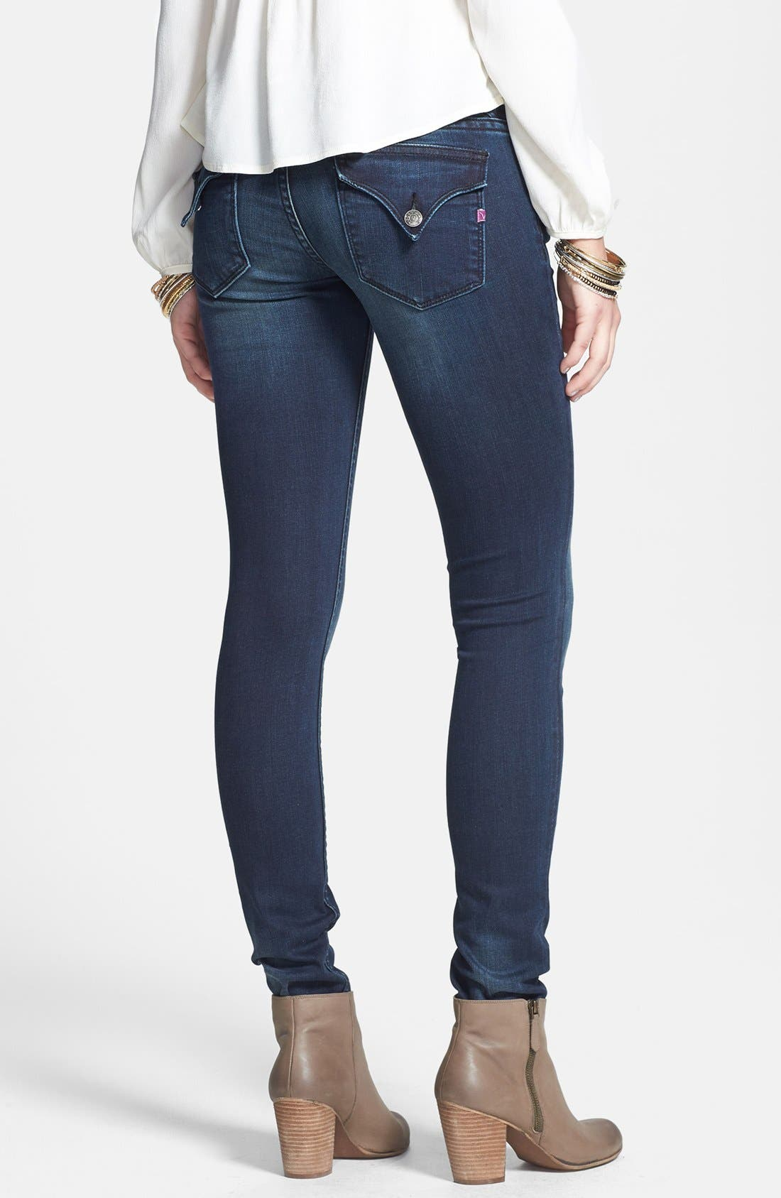 Alternate Image 2  - Vigoss 'New York' Flap Pocket Skinny Jeans (Ink)