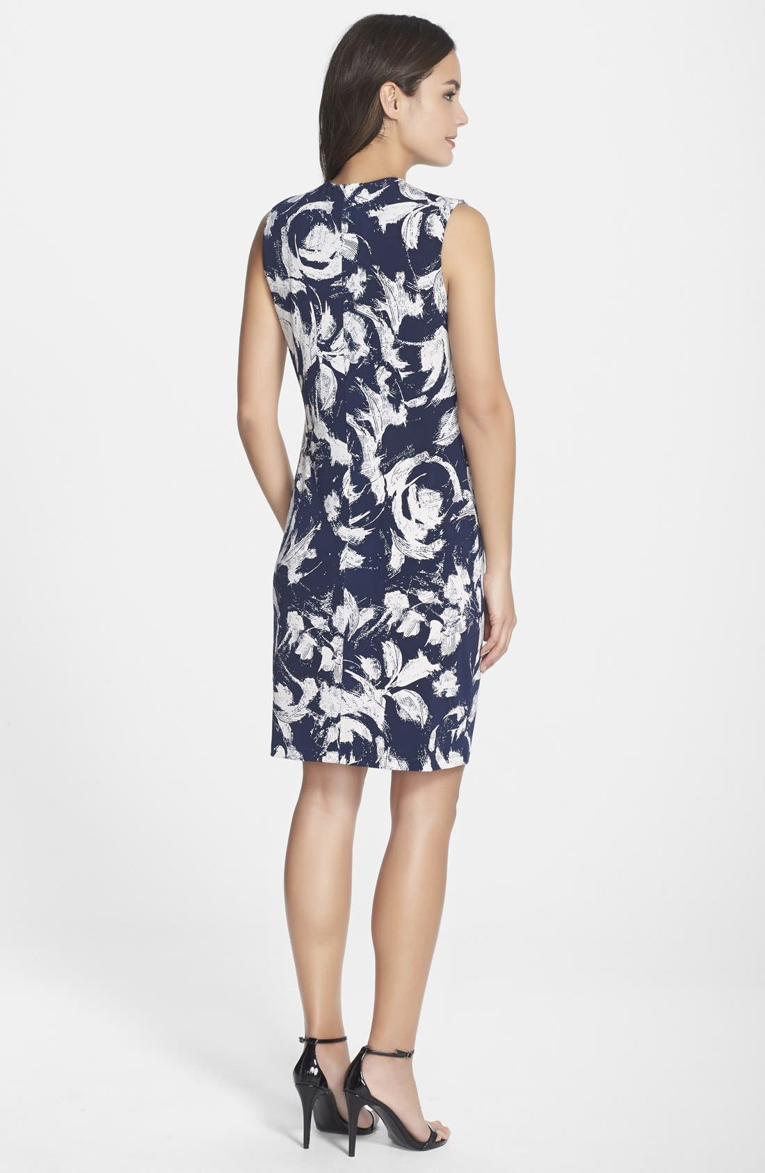 Alternate Image 2  - Marc New York by Andrew Marc Pleat Detail Floral Print Shift Dress