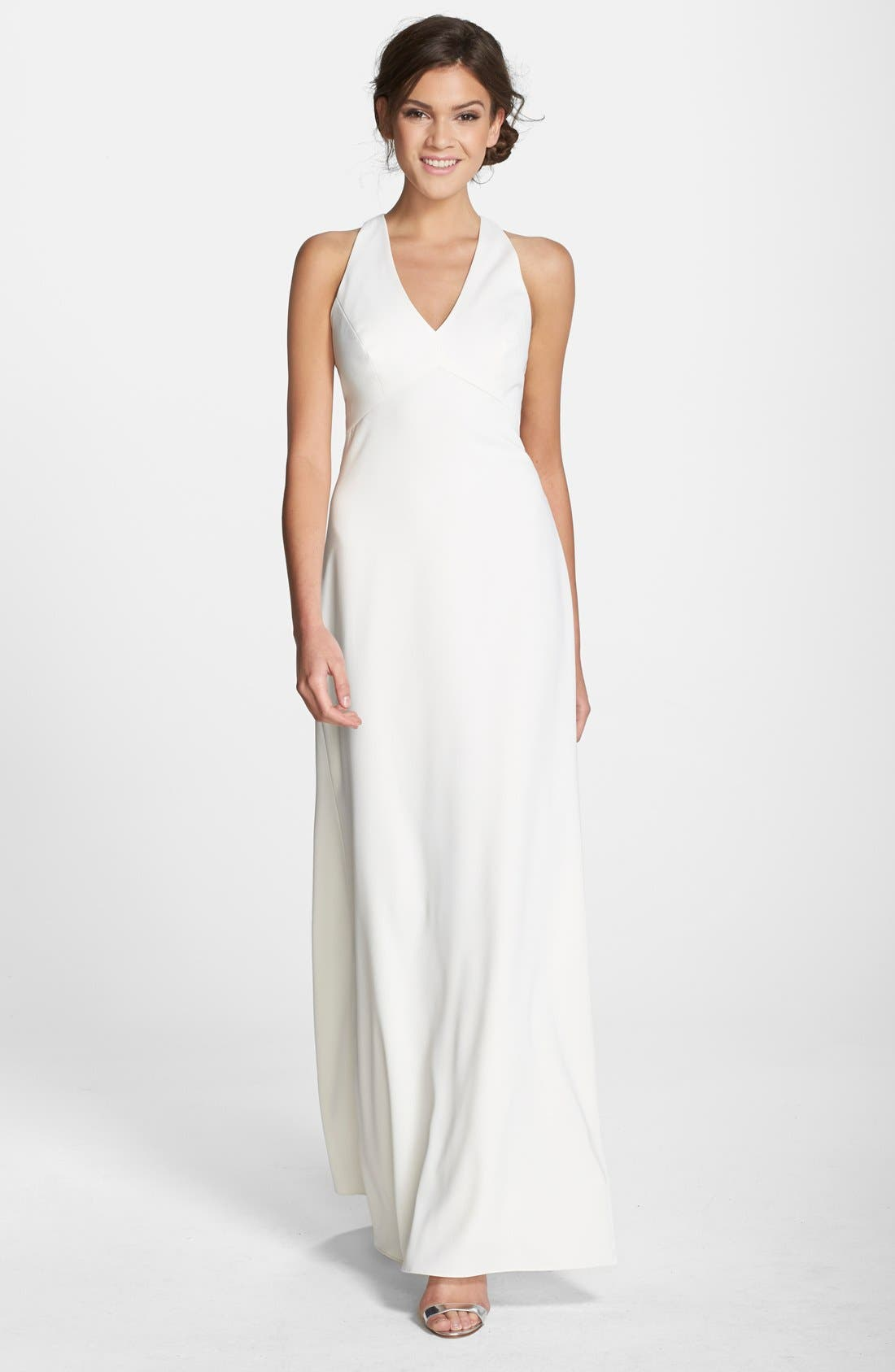 Dessy Collection Crepe Gown