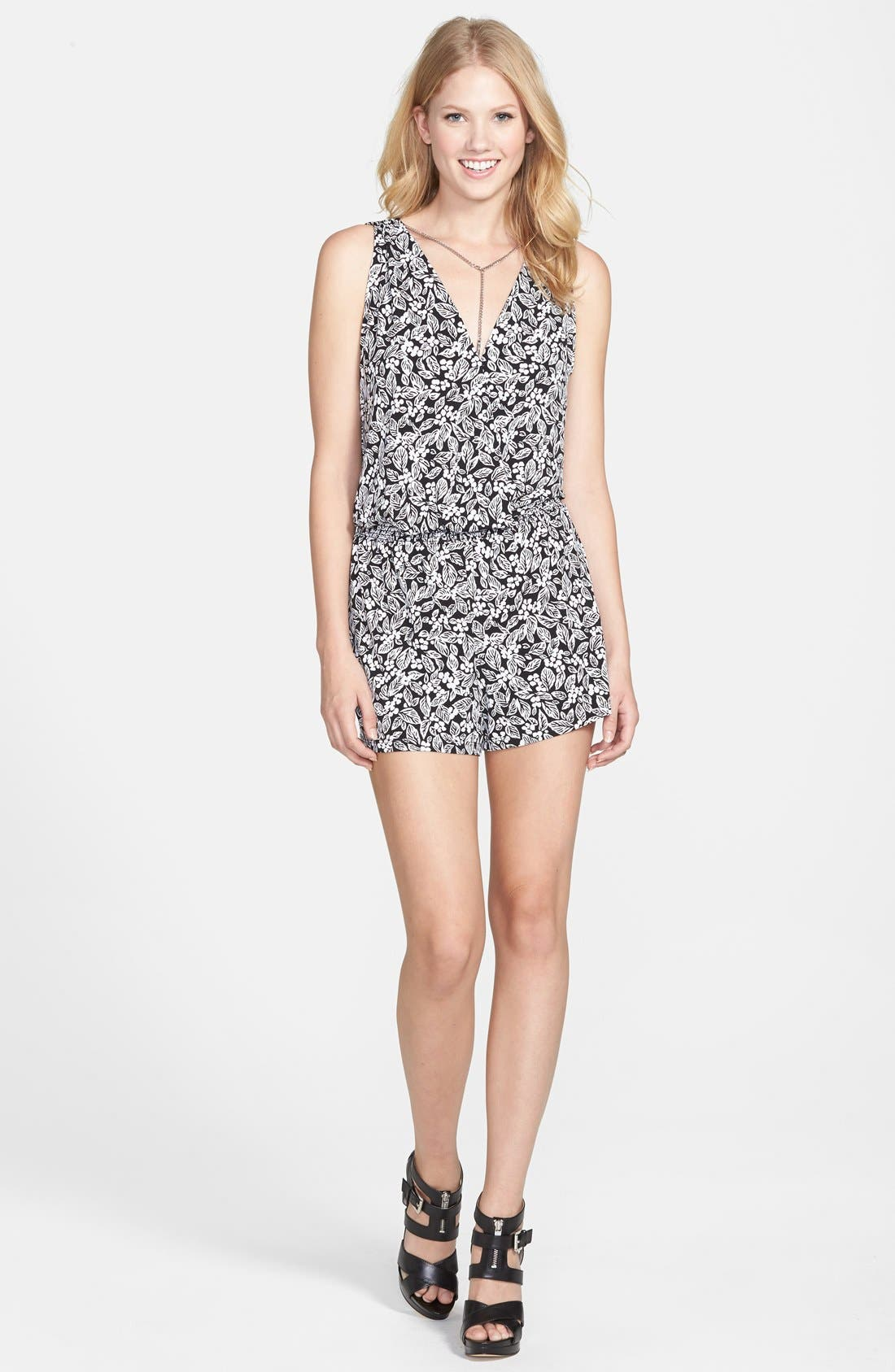 Alternate Image 4  - MICHAEL Michael Kors 'Comoro' Sleeveless Romper (Regular & Petite)