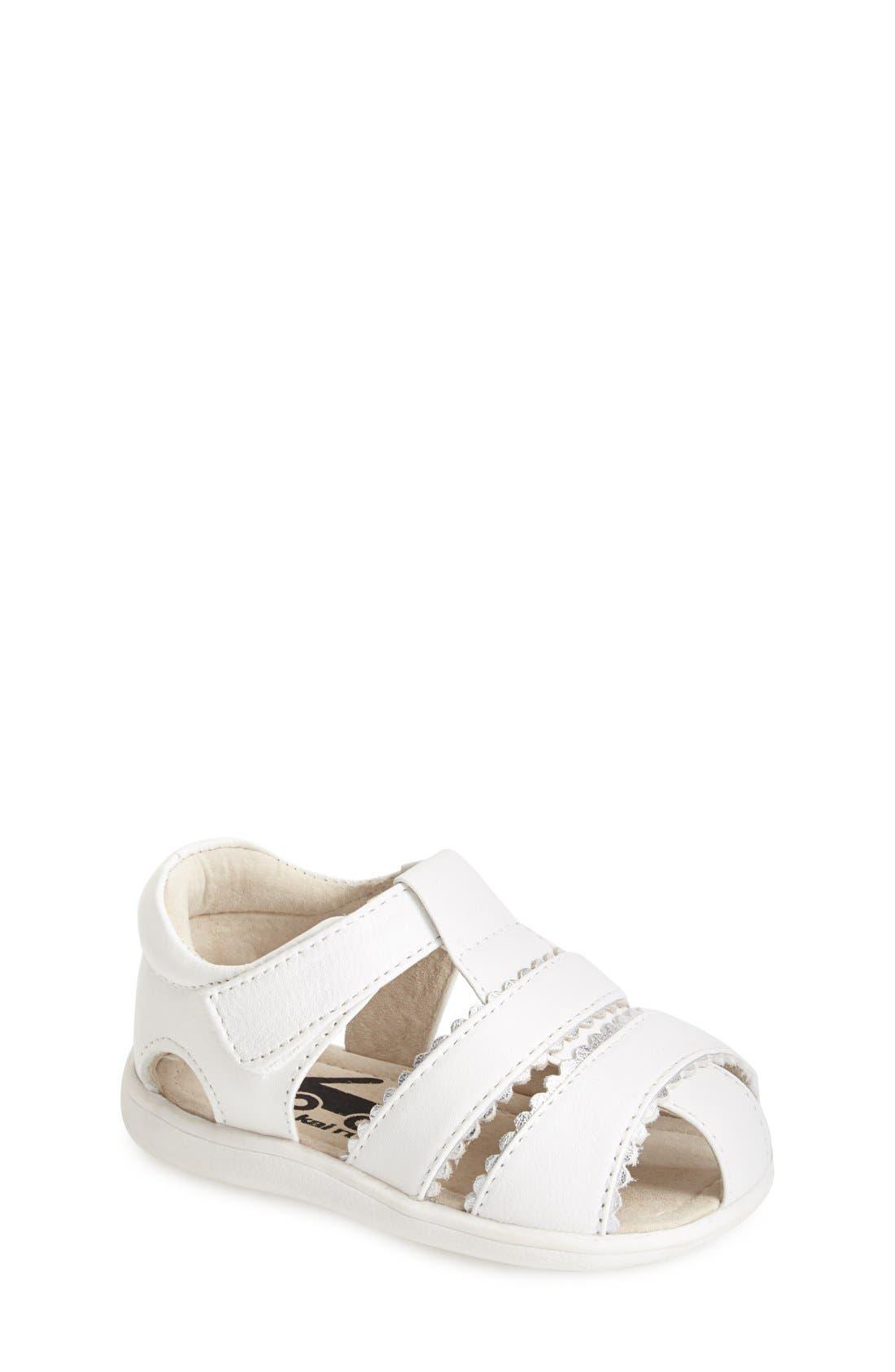 See Kai Run 'Gloria II' Leather Fisherman Sandal (Baby, Walker & Toddler)
