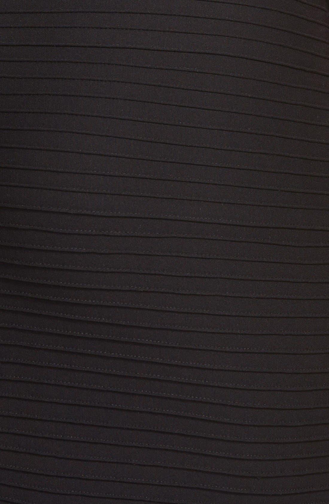 Alternate Image 3  - Tadashi Shoji Pintuck & Lace Empire Gown (Plus Size)