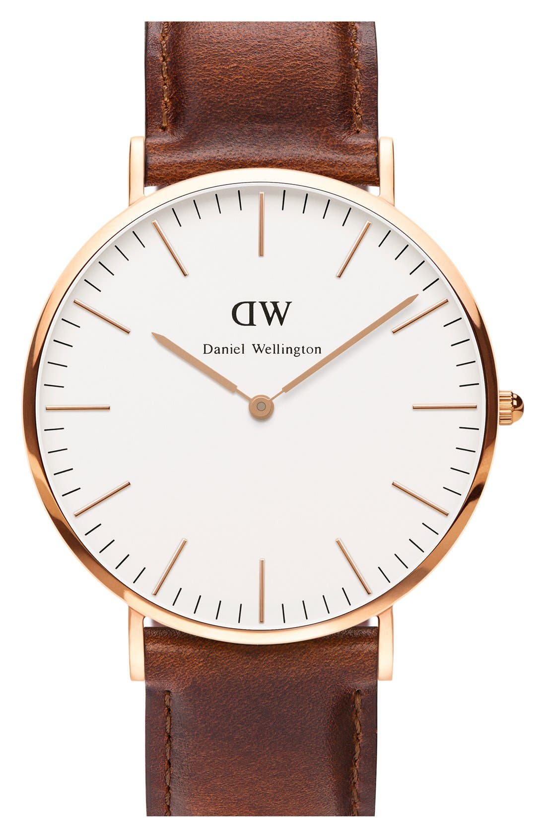 Alternate Image 1 Selected - Daniel Wellington 'Classic St. Mawes' Leather Strap Watch, 40mm