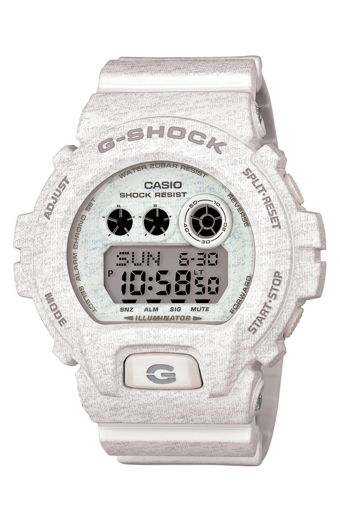 Alternate Image 1 Selected - G-Shock XL Print Resin Digital Watch, 58mm x 54mm