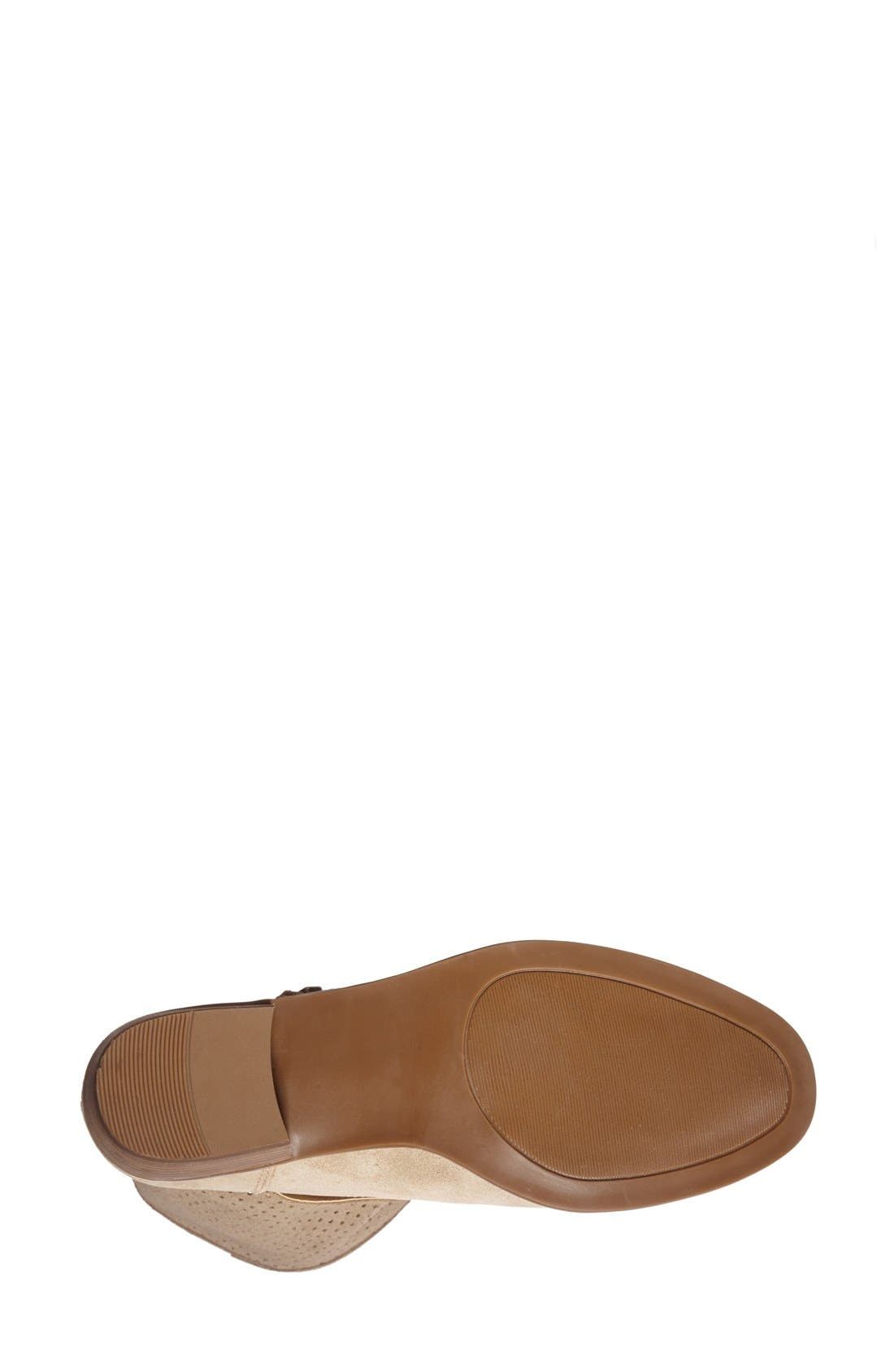 Alternate Image 4  - Sole Society 'Sola' Perforated Suede Western Bootie (Women)