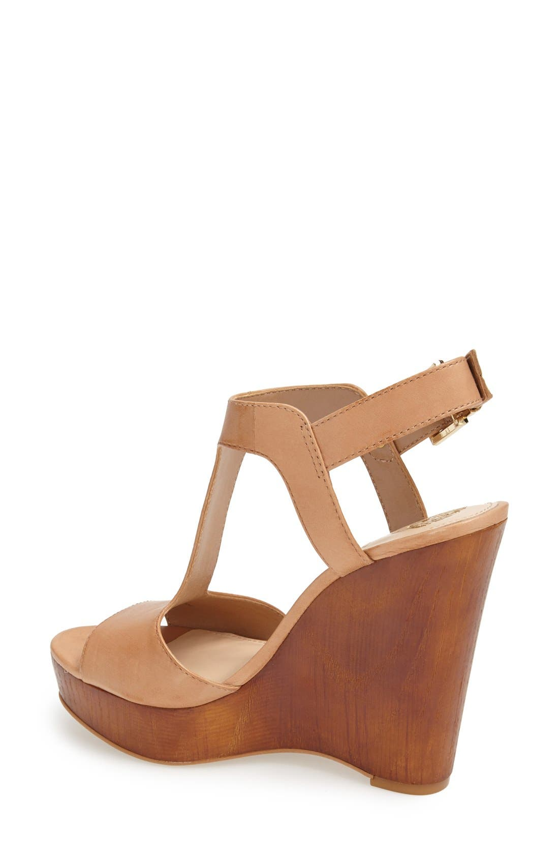 Alternate Image 2  - Vince Camuto 'Mathis' T-Strap Wedge Sandal (Women)