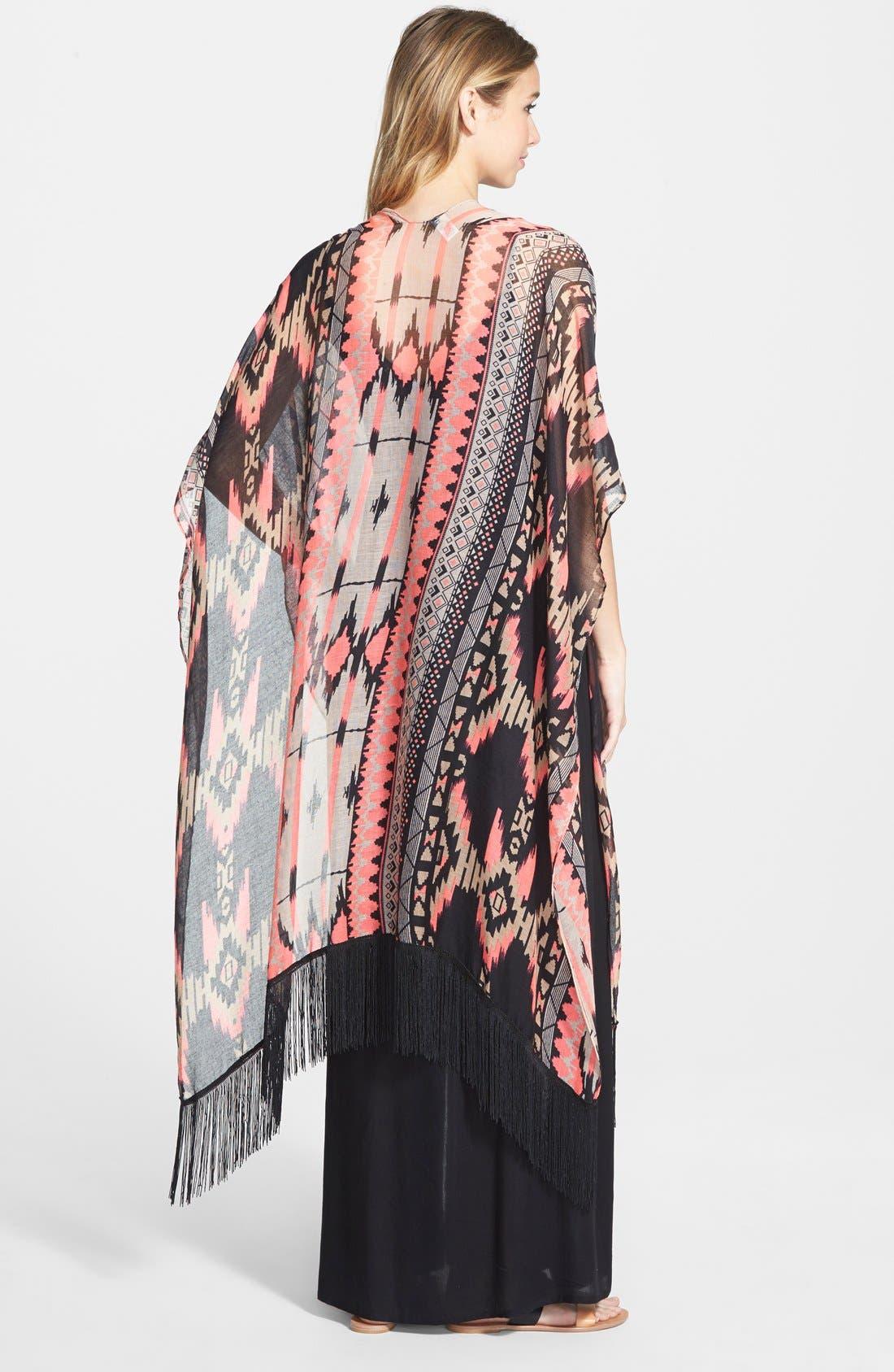 Alternate Image 2  - BP. Geo Print Kimono (Juniors)