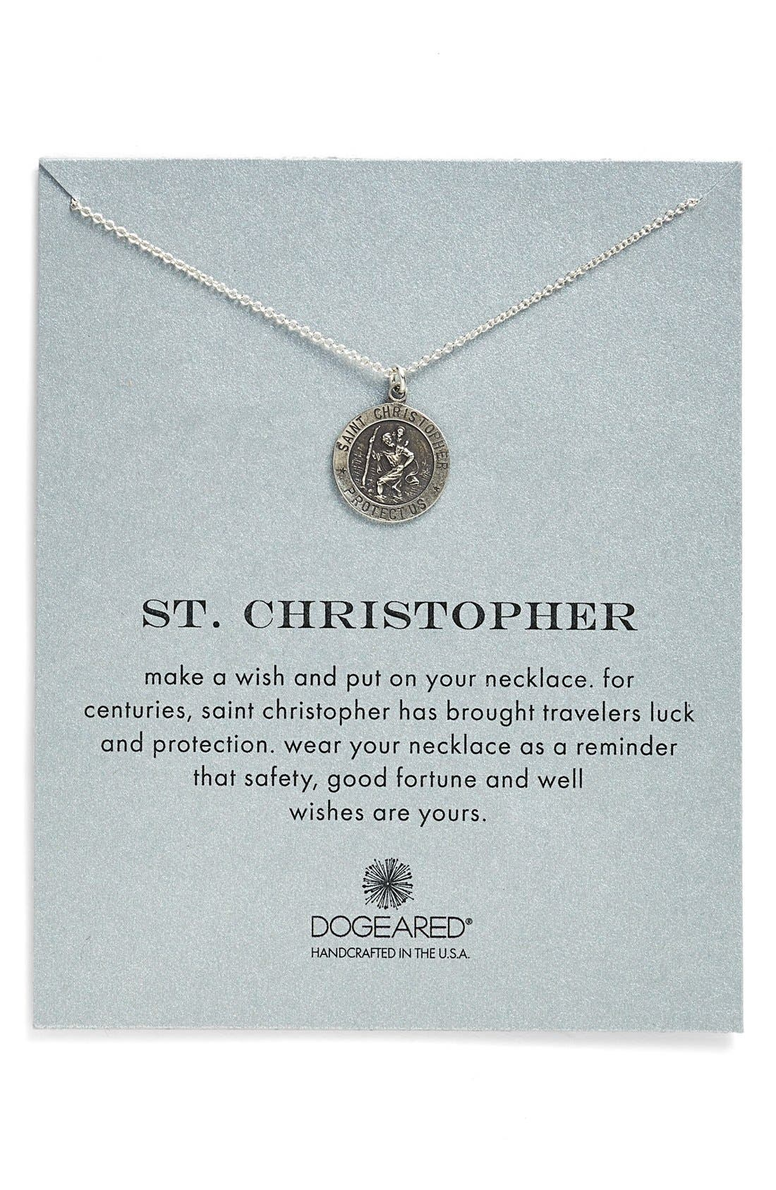Main Image - Dogeared 'St. Christopher' Pendant Necklace
