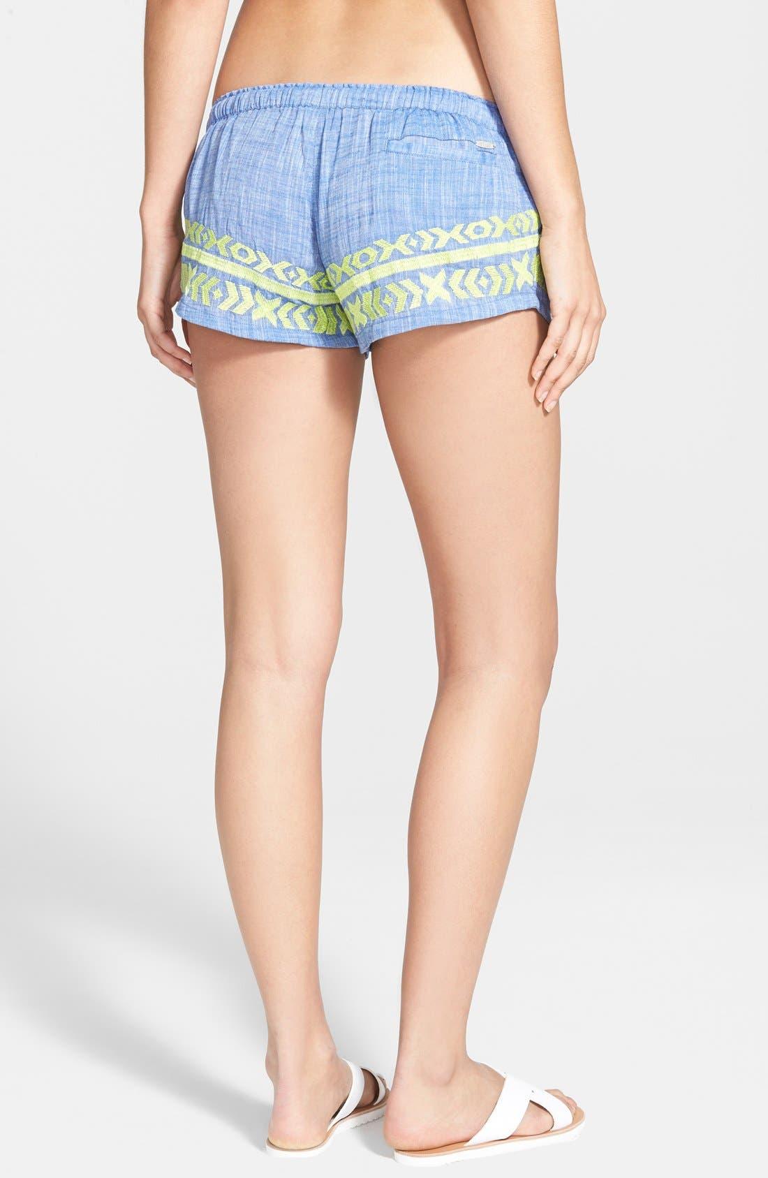 Alternate Image 2  - Rip Curl 'Marisol' Chambray Shorts (Juniors)
