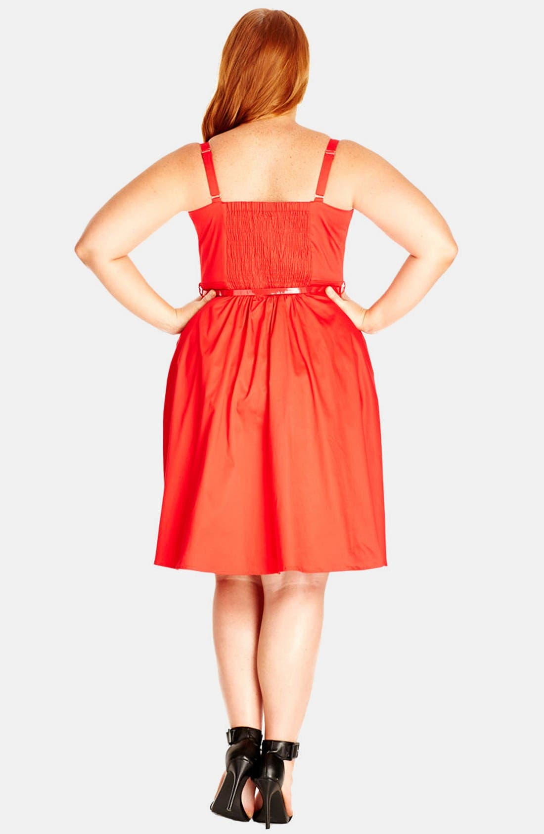 Alternate Image 2  - City Chic 'Sweetheart' Fit & Flare Dress (Plus Size)