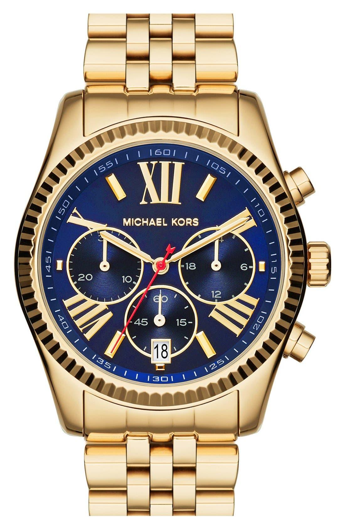 Alternate Image 1 Selected - Michael Kors 'Lexington' Chronograph Bracelet Watch, 38mm