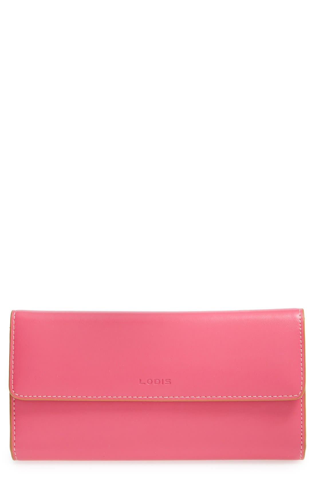 Main Image - Lodis 'Audrey' Checkbook Clutch Wallet