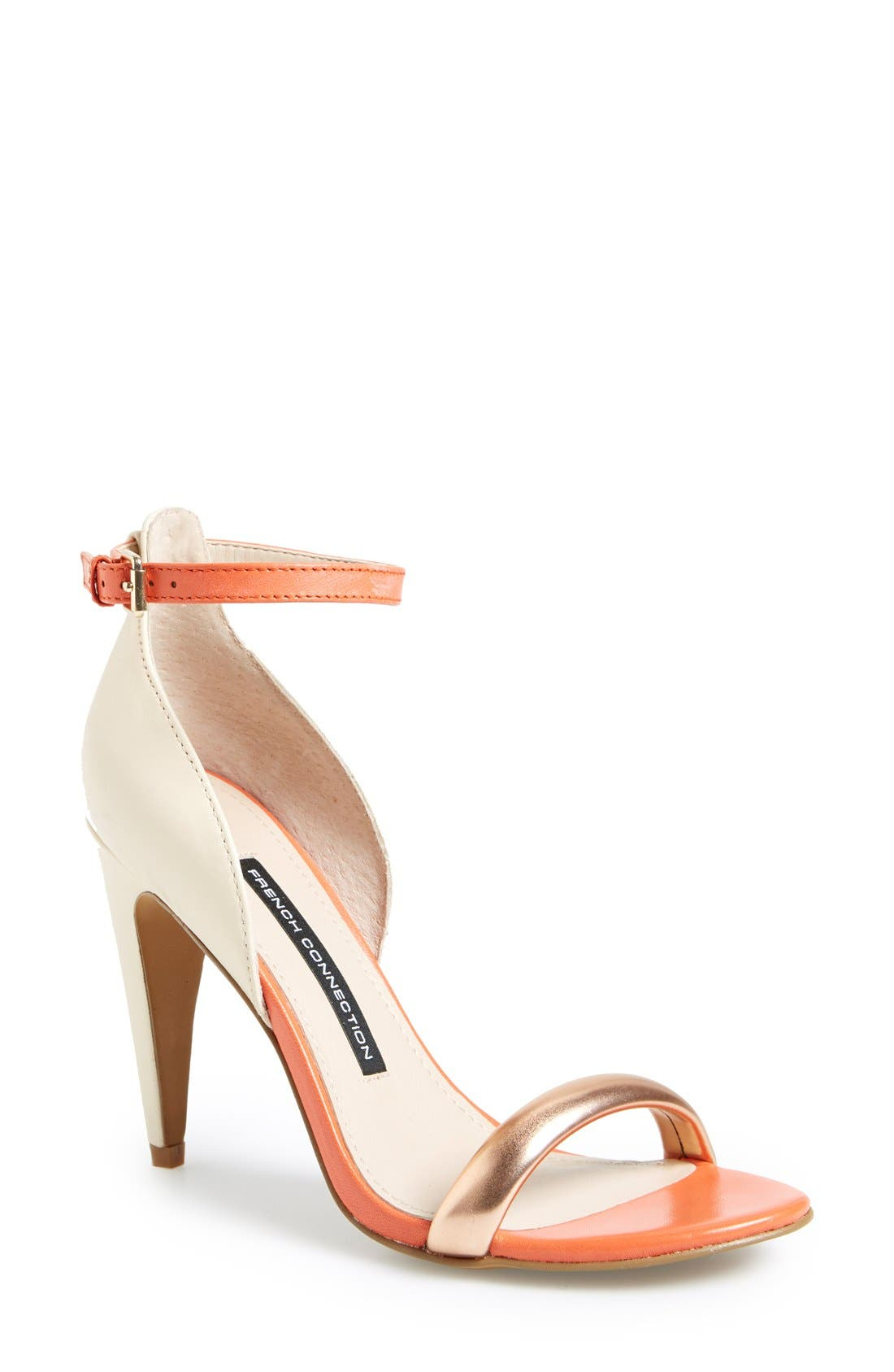 Alternate Image 1 Selected - French Connection 'Nanette' Ankle Strap Sandal (Women)