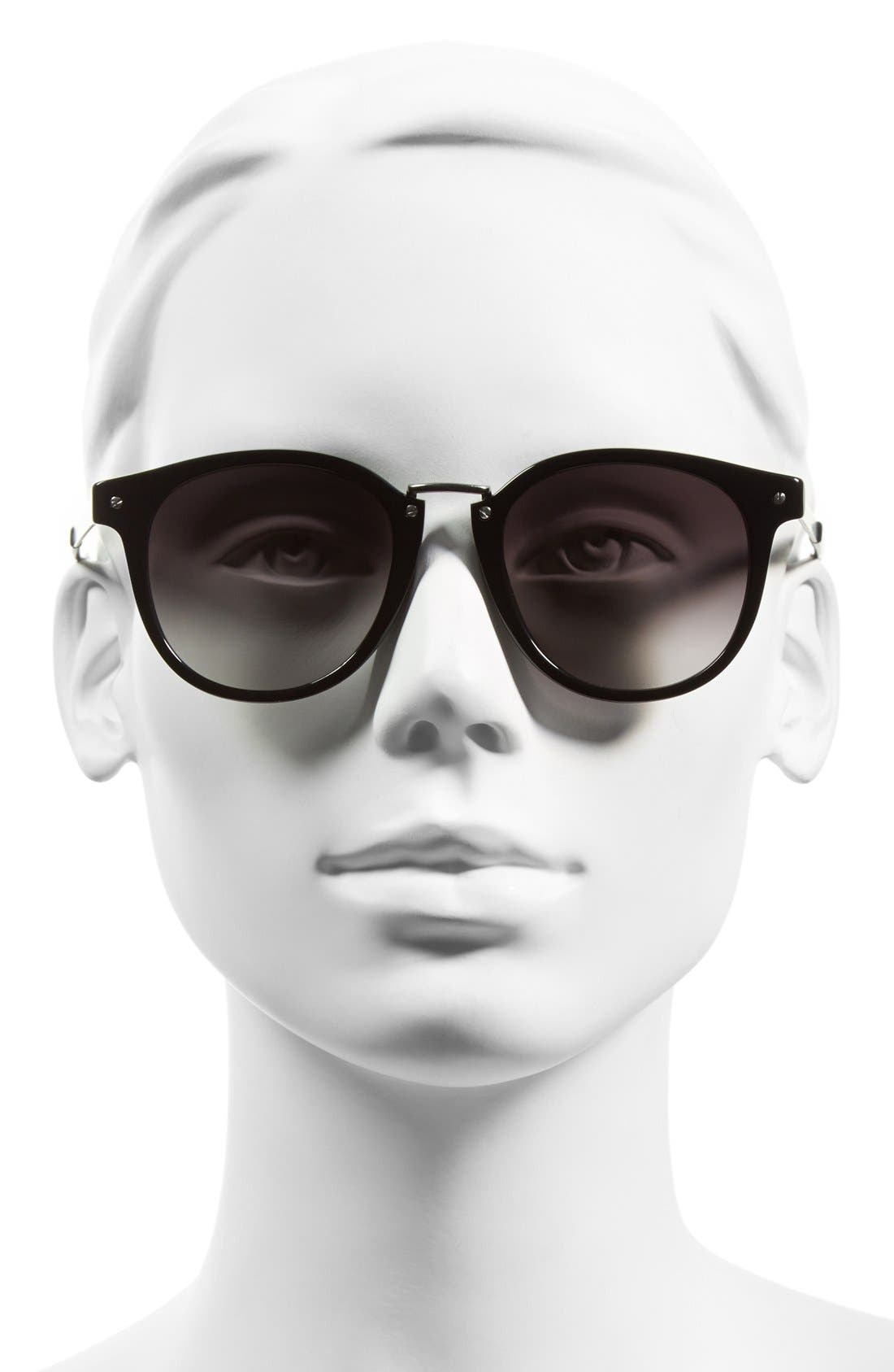 Alternate Image 2  - Oxydo 49mm Round Metal Accent Sunglasses