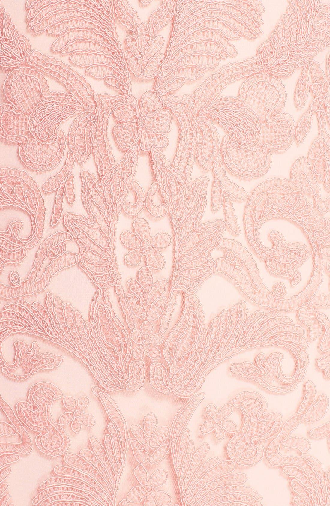 Alternate Image 3  - Tadashi Shoji Corded Lace Tulle Sheath Dress (Regular & Petite)
