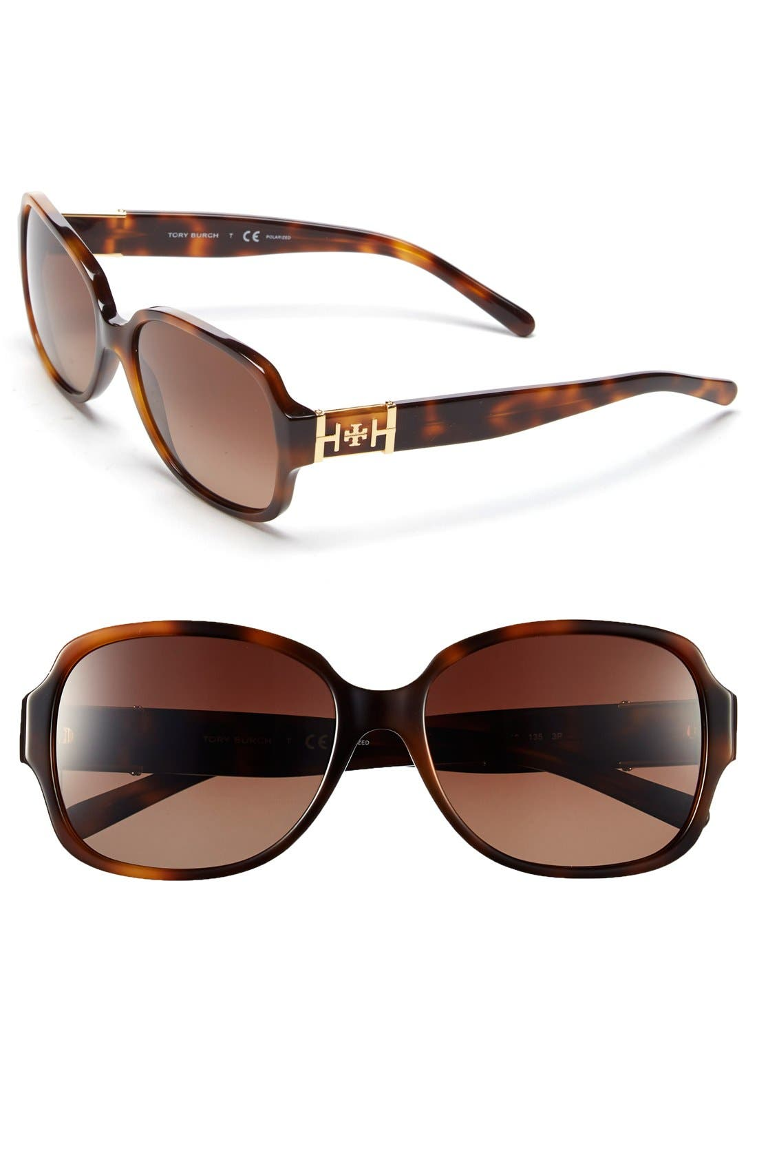 Main Image - Tory Burch 57mm Polarized Sunglasses (Nordstrom Exclusive)