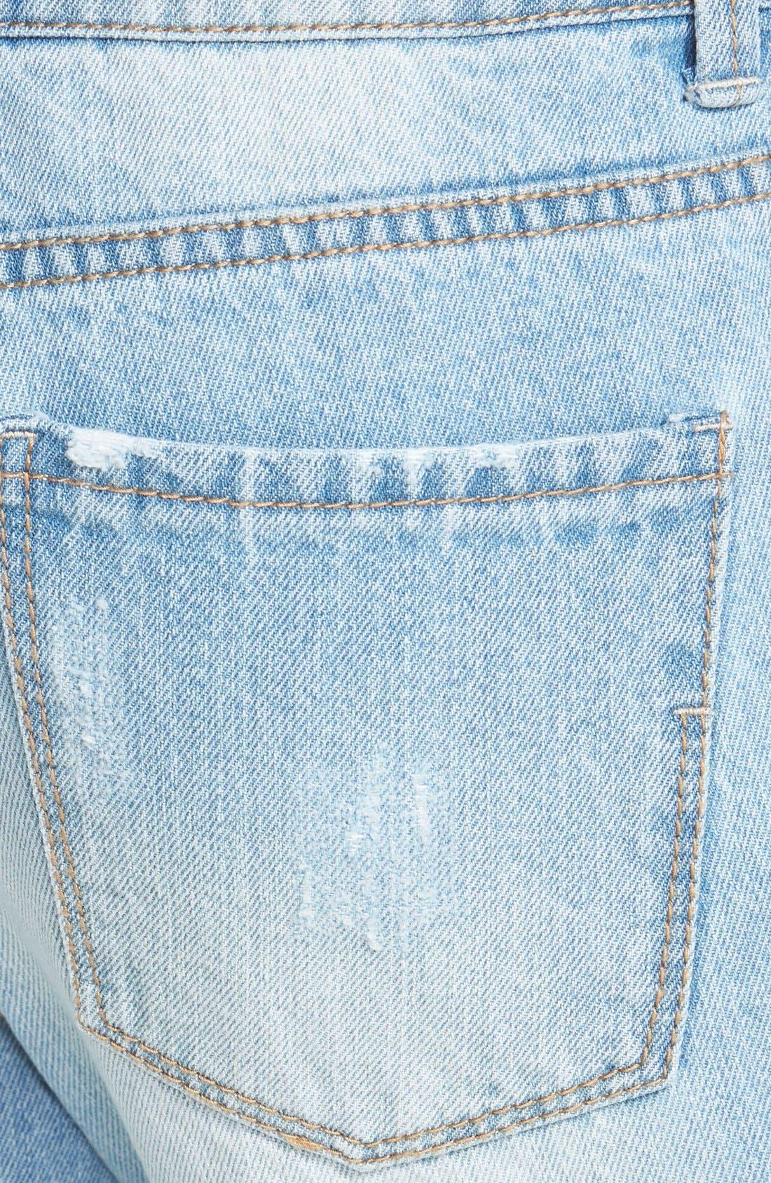 Alternate Image 3  - Generra Boyfriend Jeans (Blue)