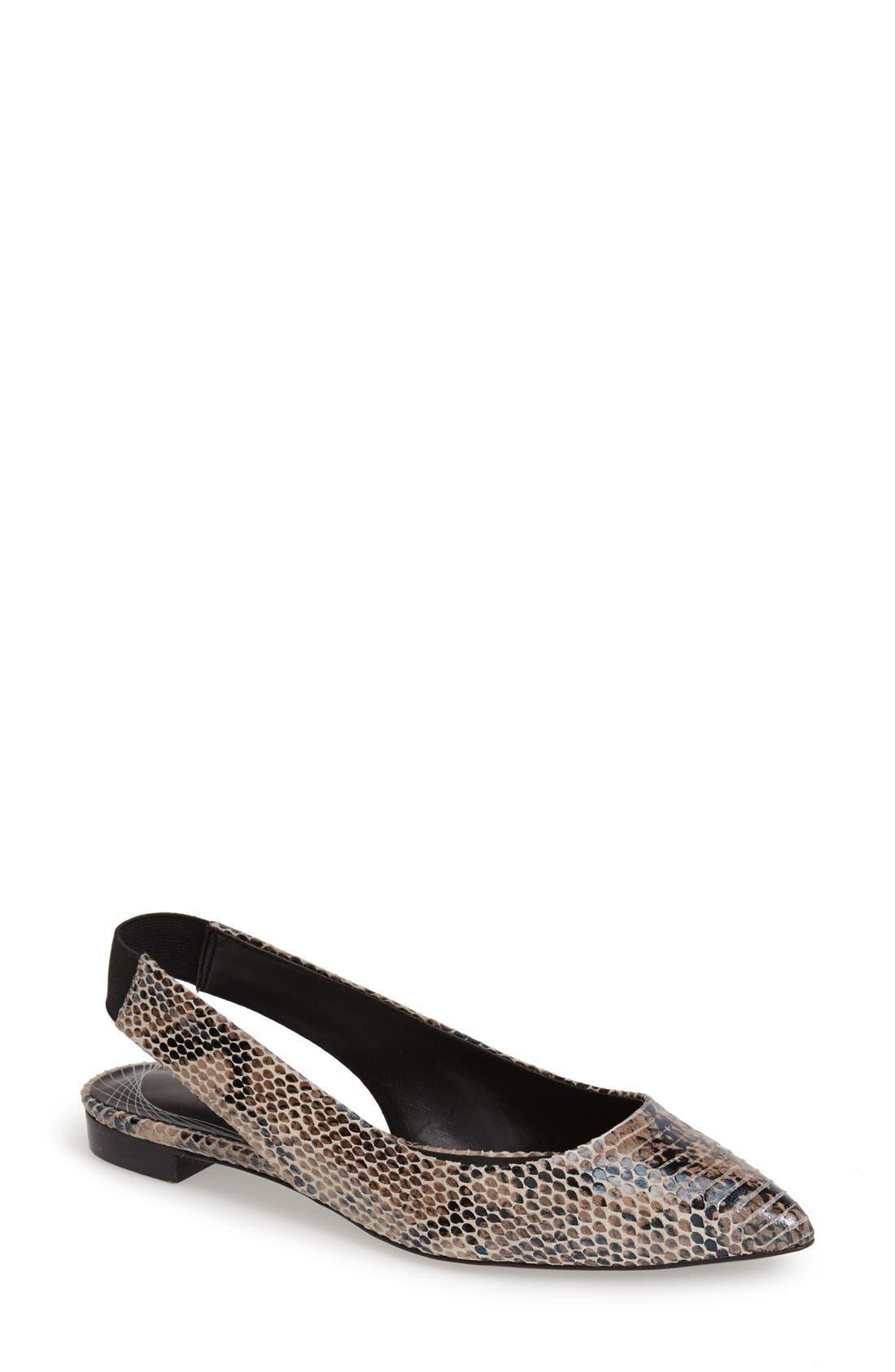 Alternate Image 1 Selected - Trouvé 'Mona' Pointy Toe Leather Flat (Women)