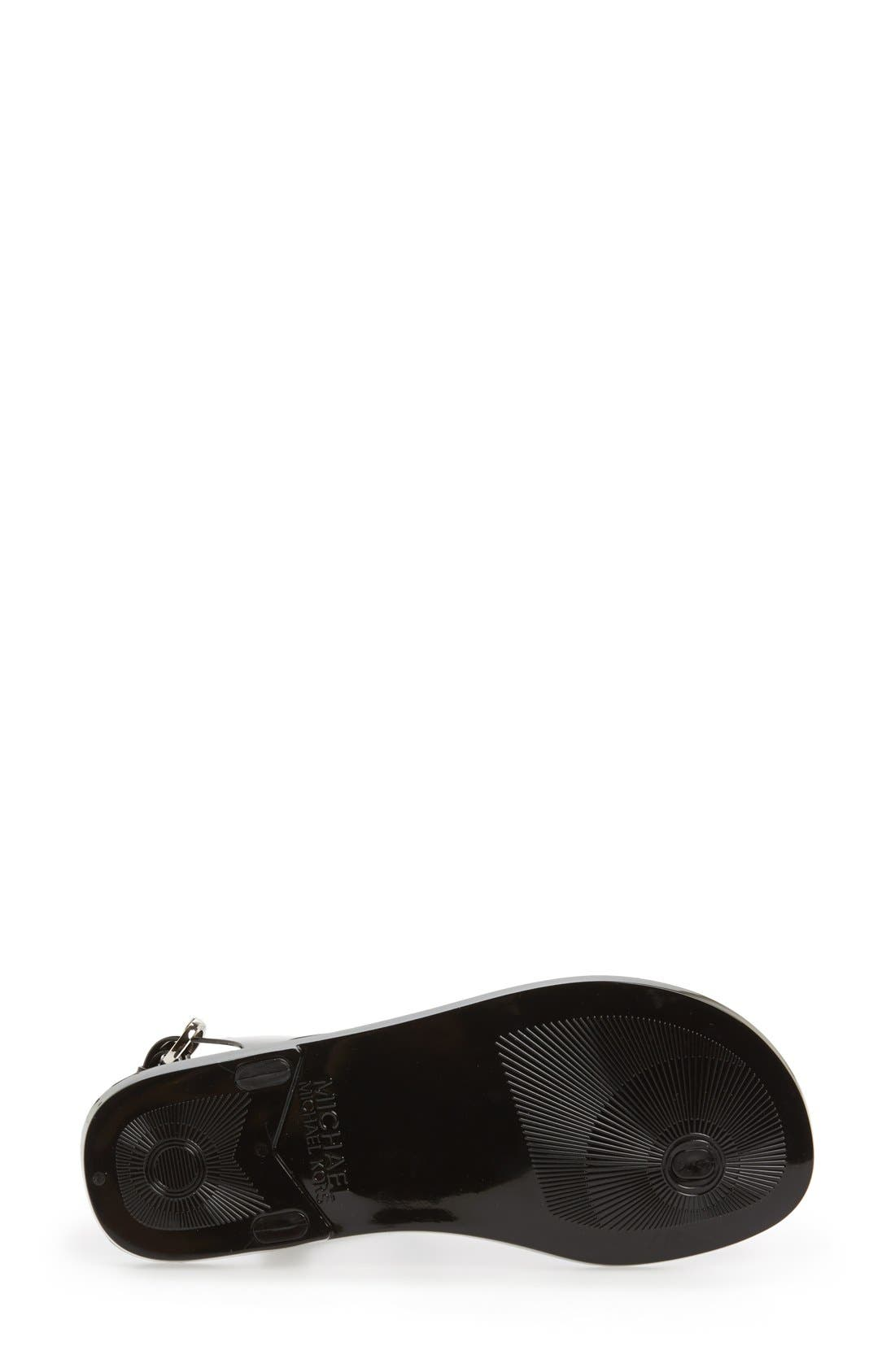 Alternate Image 4  - MICHAEL Michael Kors 'Hamilton' Jelly Sandal (Women)