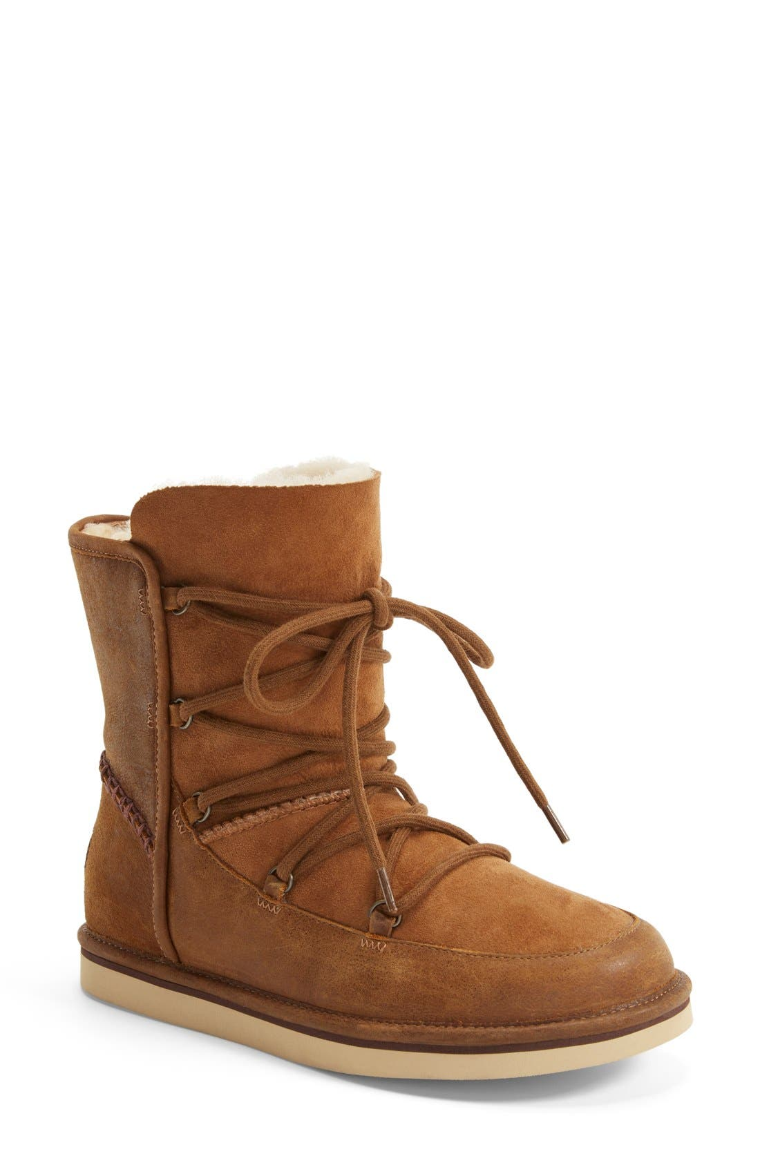 Alternate Image 1 Selected - UGG® Lodge Water Resistant Lace-Up Boot (Women)