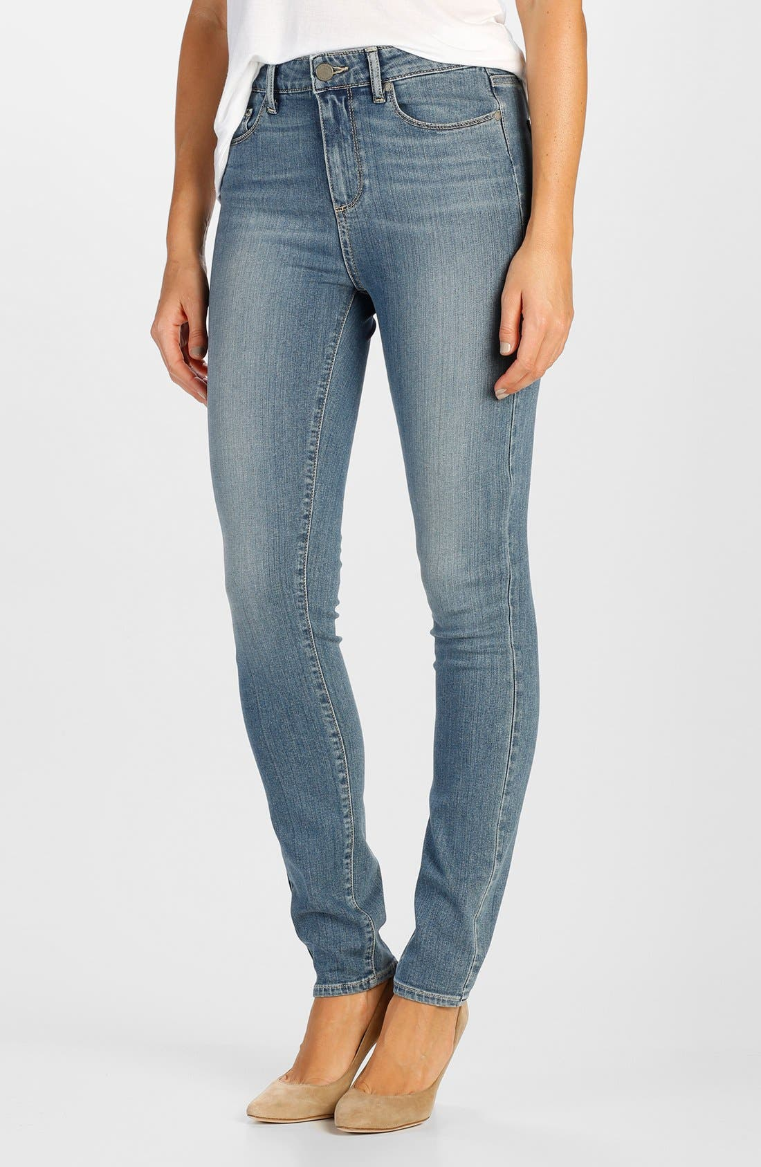 Alternate Image 1 Selected - Paige Denim 'Transcend - Hoxton' High Rise Ultra Skinny Jeans (Teagan)