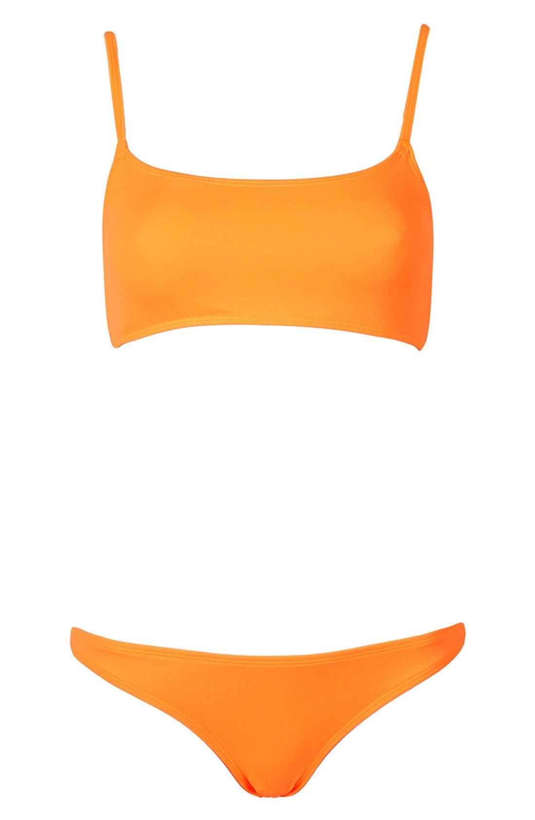 Alternate Image 3  - Topshop Fluro Bikini Set