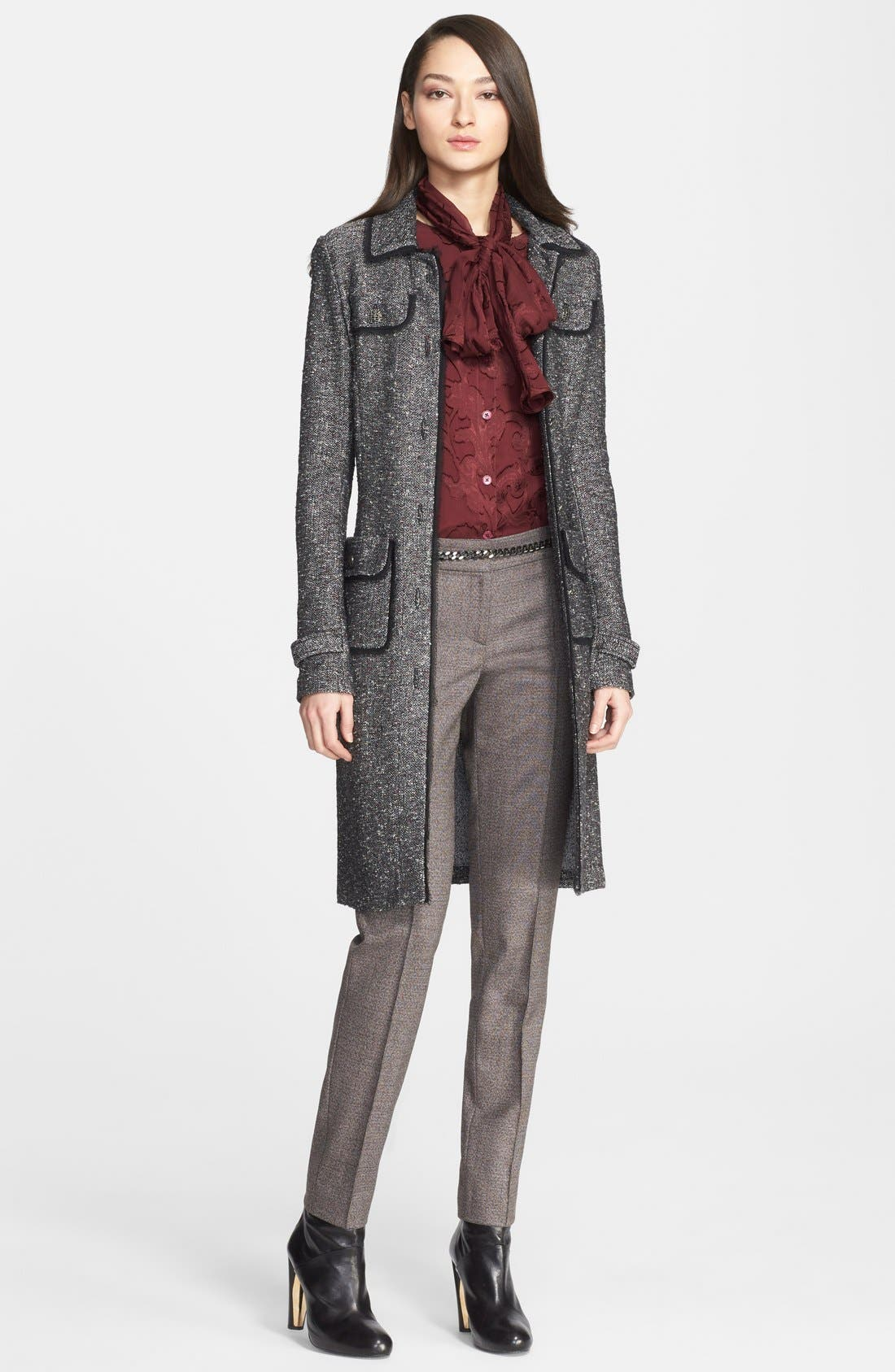 Alternate Image 4  - St. John Collection Flecked Tweed Knit Topper