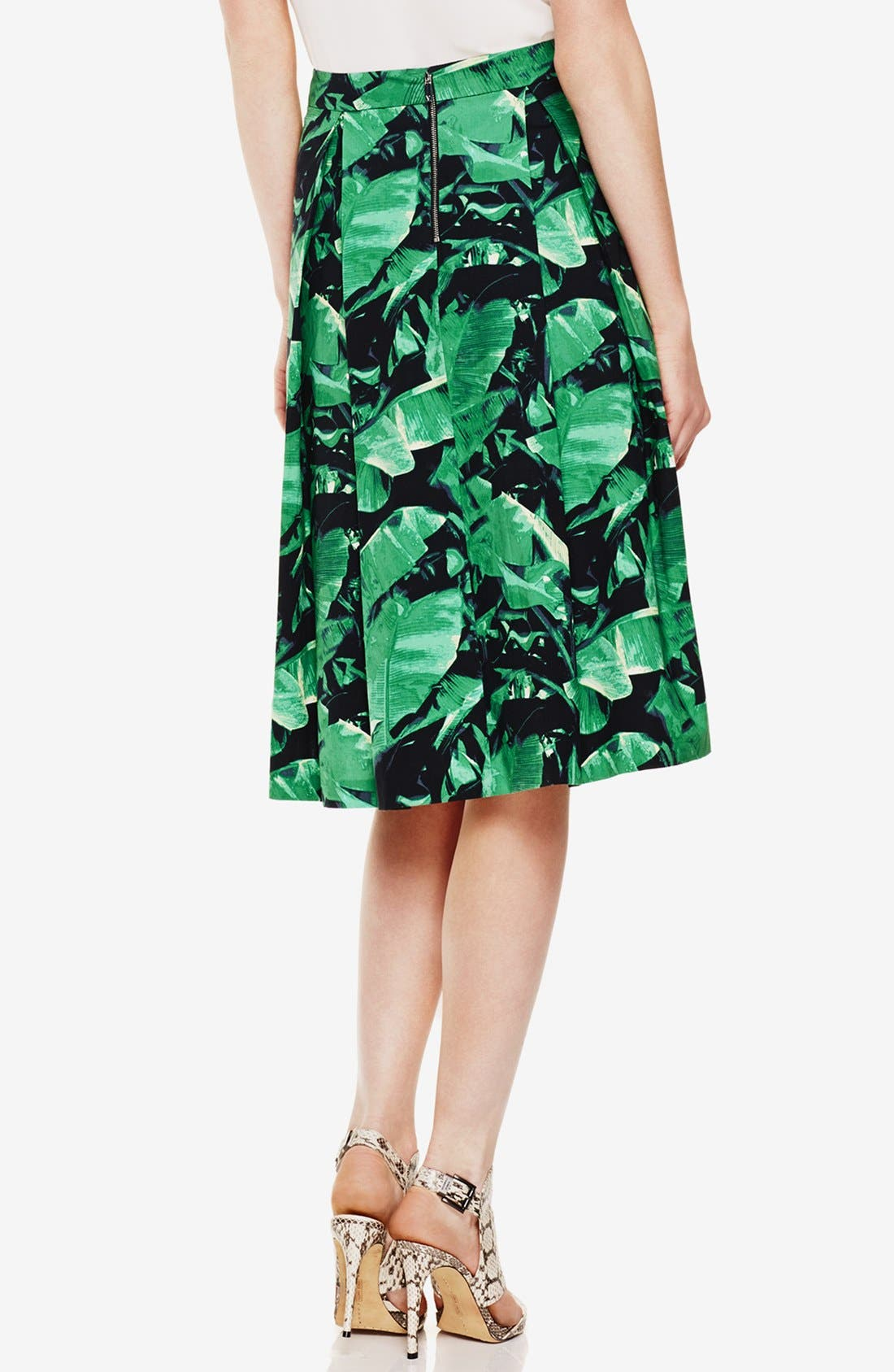 Alternate Image 2  - Vince Camuto 'Island Palm' Pleat Midi Skirt