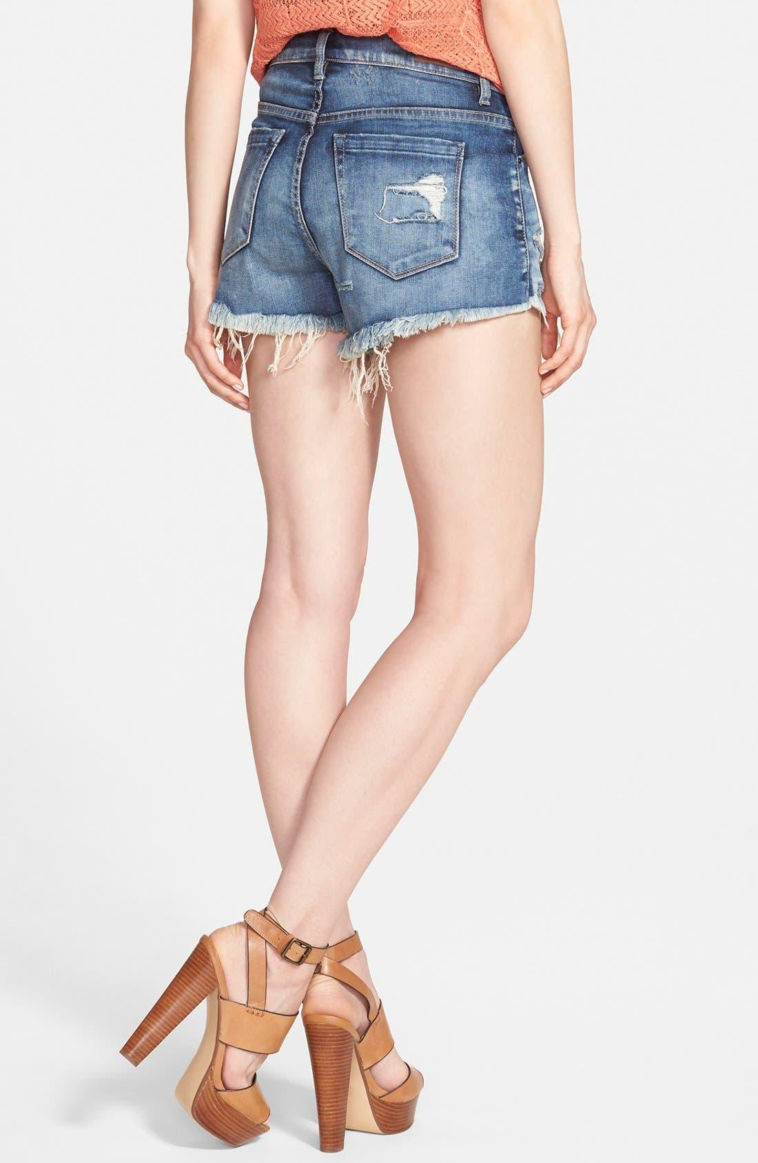 Alternate Image 2  - BLANKNYC 'Fit of Rage' Denim Shorts (Blue)