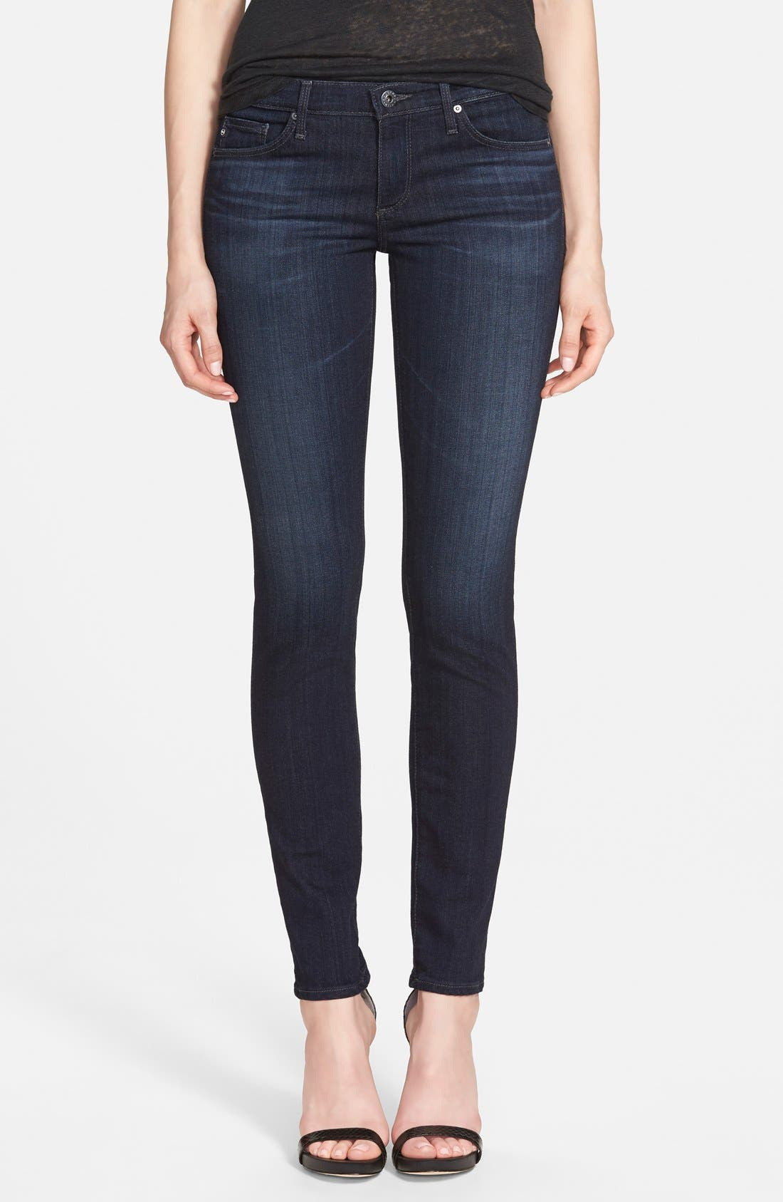 Alternate Image 1 Selected - AG 'The Stilt' Cigarette Skinny Jeans (Brooks)