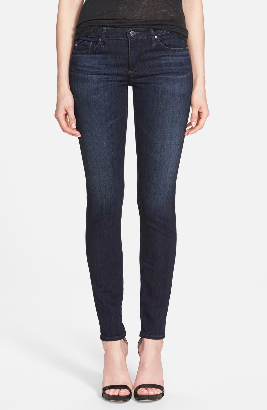 Main Image - AG 'The Stilt' Cigarette Skinny Jeans (Brooks)