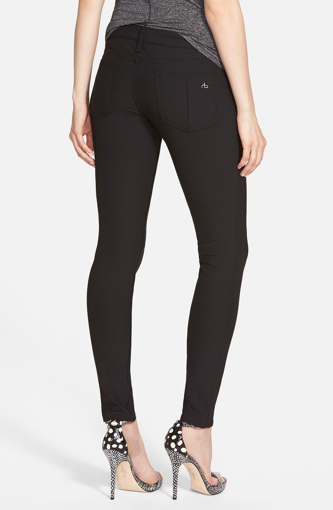 Alternate Image 2  - rag & bone/JEAN Skinny Jeans (Equestrian)