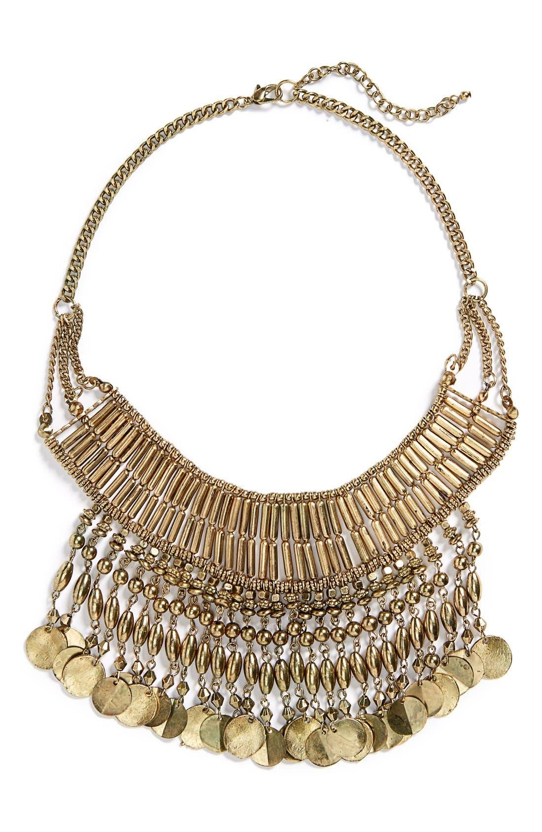 Alternate Image 1 Selected - BP. Metal Bead Statement Necklace (Juniors)