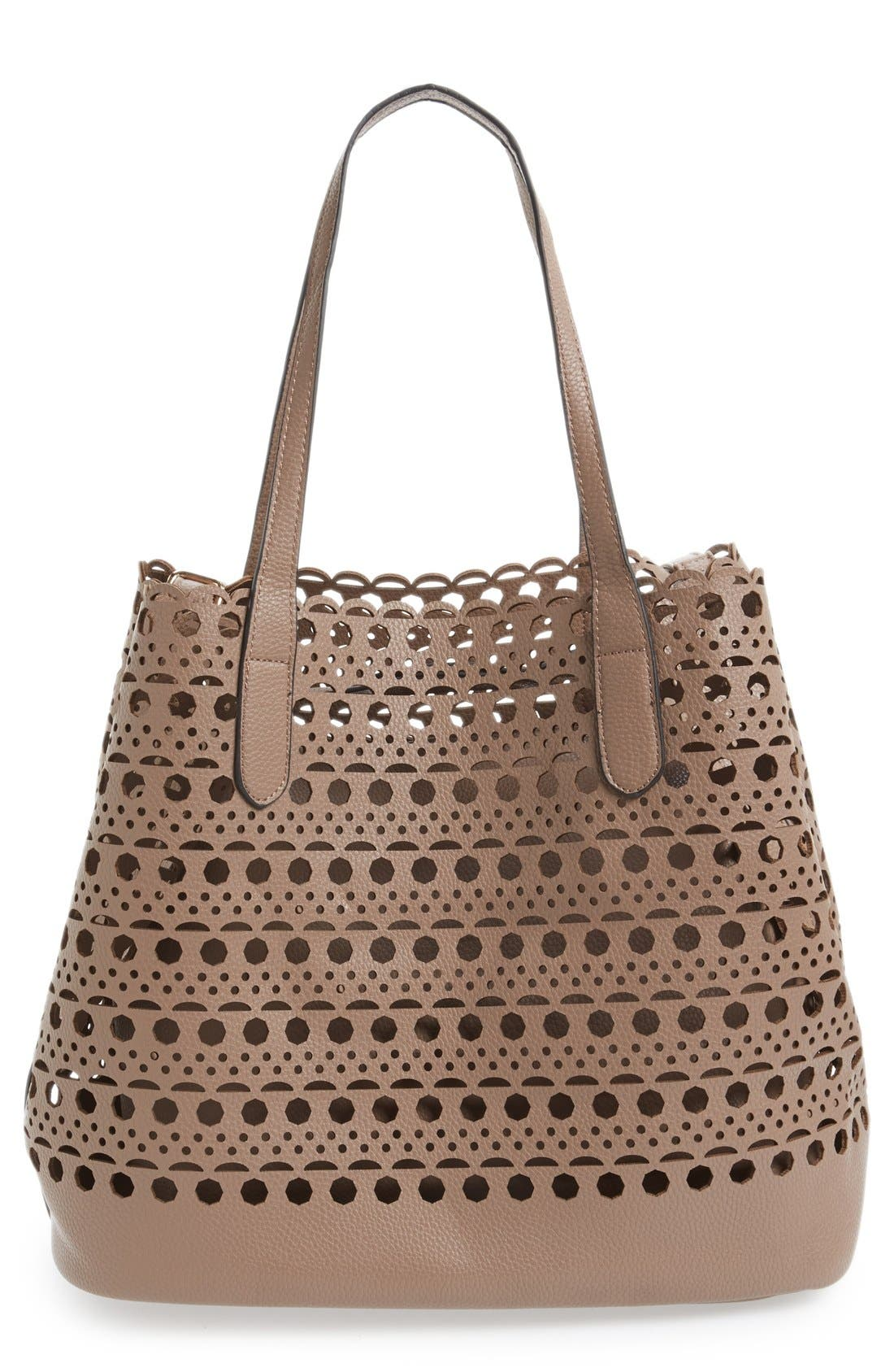 Alternate Image 1 Selected - Street Level Perforated Tote
