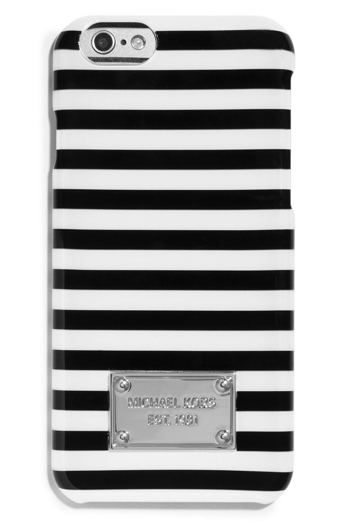 Alternate Image 1 Selected - MICHAEL Michael Kors 'Corby Stripe' iPhone 6 & 6s Case