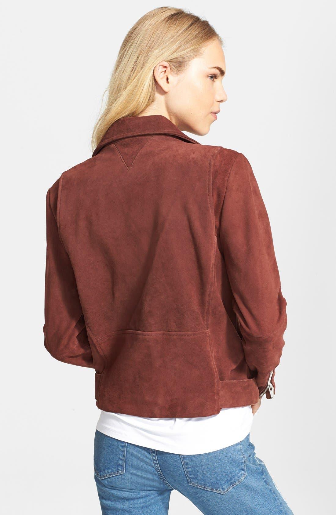 Alternate Image 2  - Veda 'Jayne' Suede Moto Jacket