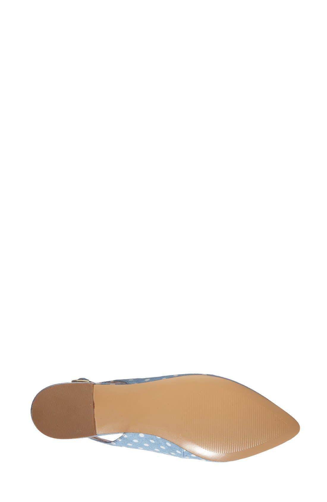 Alternate Image 4  - Sole Society 'Molly' Pointy Toe Slingback Flat (Women)