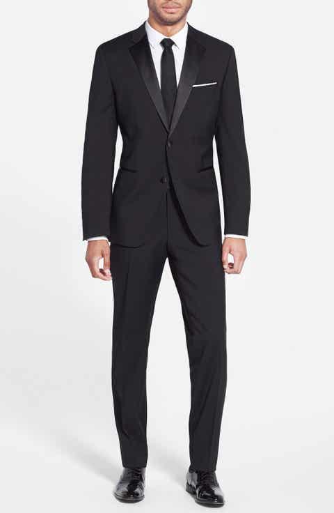 BOSS The Stars/Glamour Trim Fit Wool Tuxedo