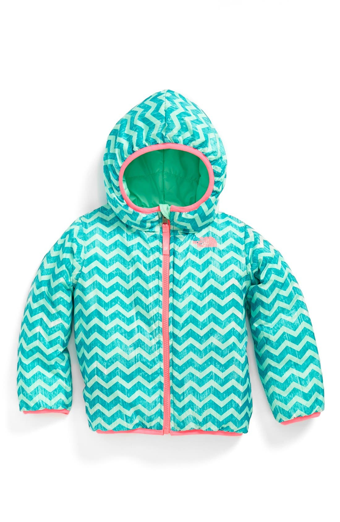 Main Image - The North Face 'Perrito' Reversible Water Repellent Hooded Jacket (Toddler Girls & Little Girls)