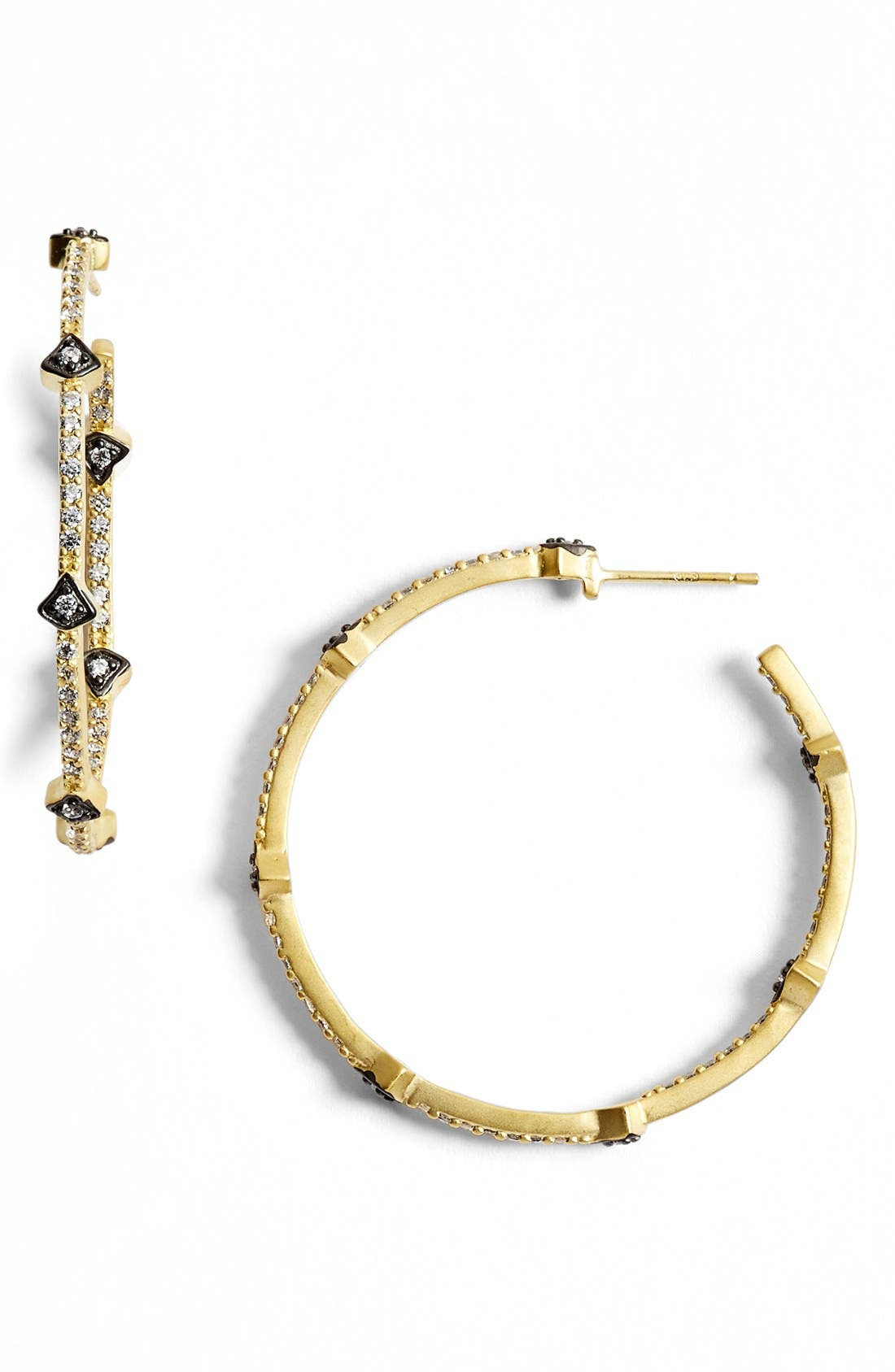 FREIDA ROTHMAN 'Metropolitan' Inside Out Hoop Earrings