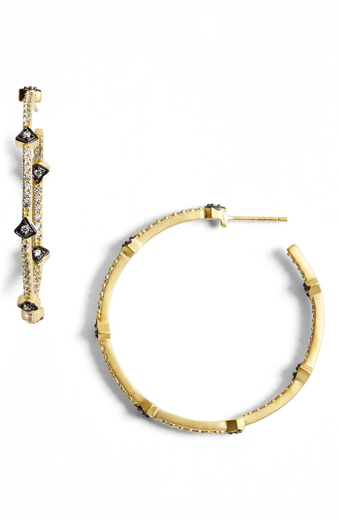 FREIDA ROTHMAN 'Metropolitan' Inside Out Hoop Earrings