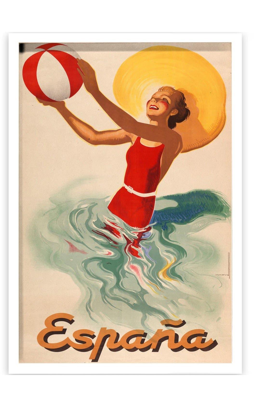 Alternate Image 1 Selected - Oliver Gal 'Espana Playa 1920s' Framed Art Print