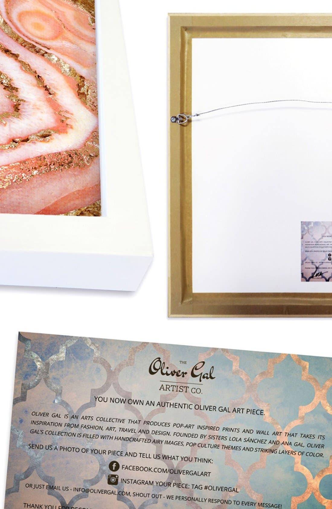 Alternate Image 3  - Oliver Gal 'Silver Sparkle' Framed Art Print