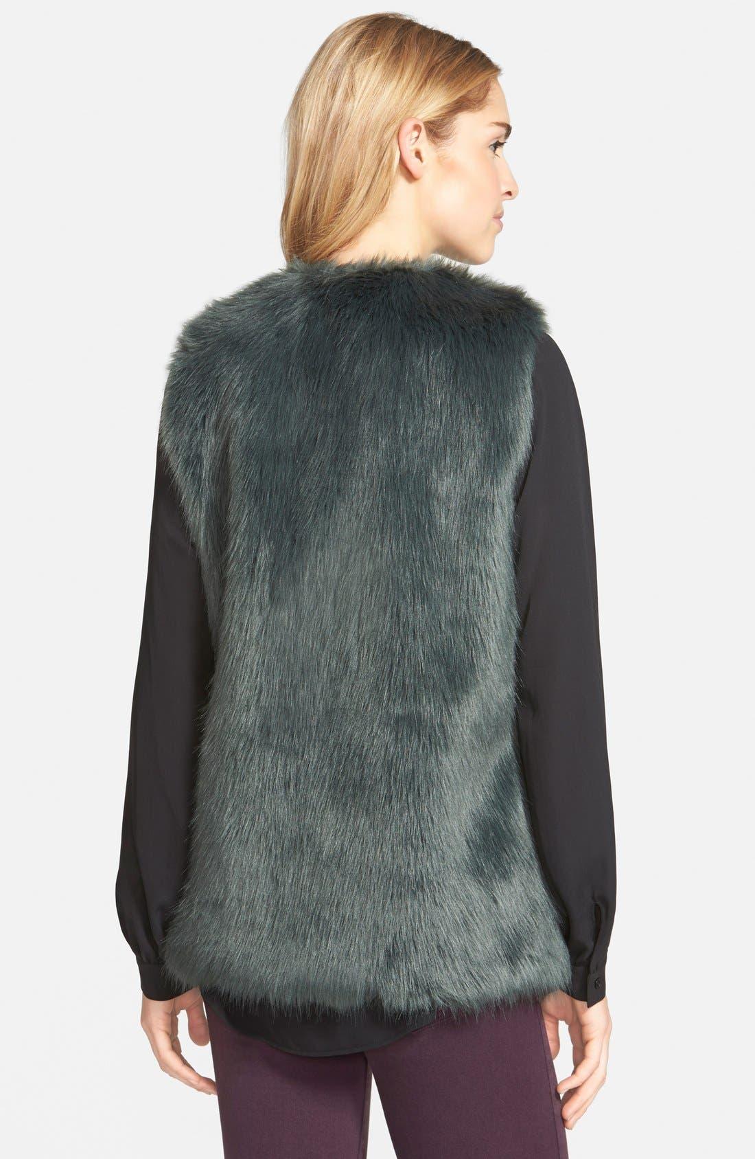 Alternate Image 2  - Laundry by Design Faux Fur Vest
