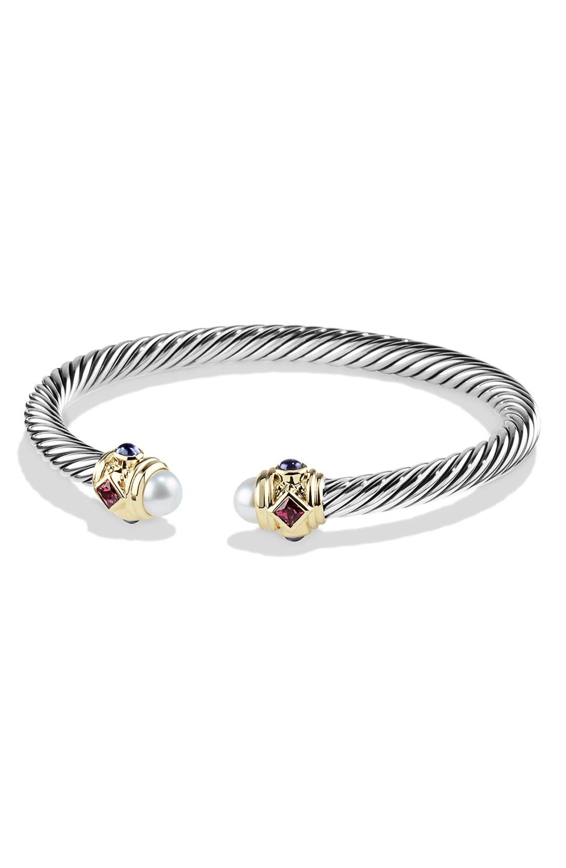 David Yurman 'Renaissance' Bracelet with Semiprecious Stone and 14k Gold