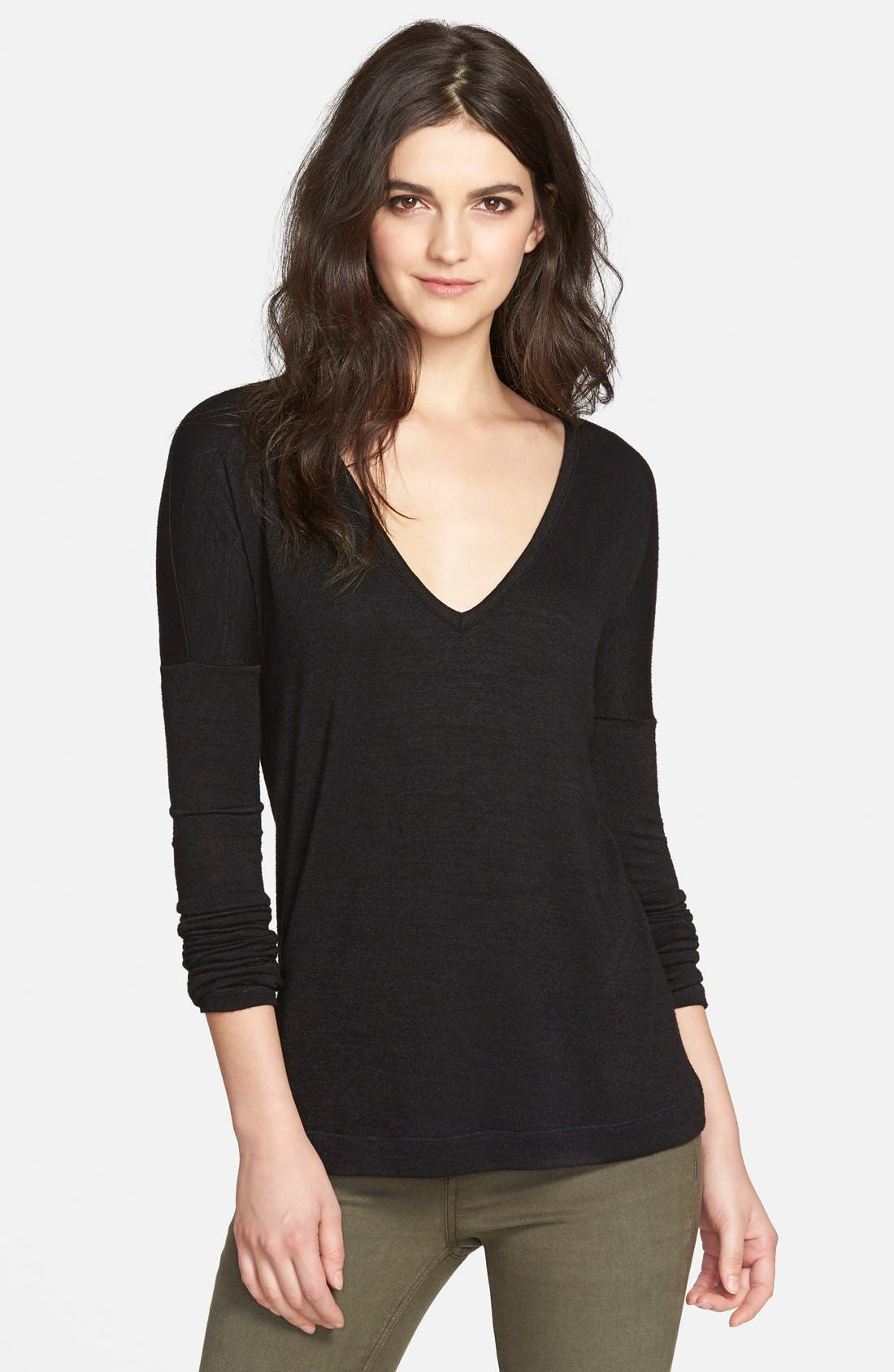 Main Image - rag & bone/JEAN 'Theo' Long Sleeve V-Neck Pullover (Nordstrom Exclusive)
