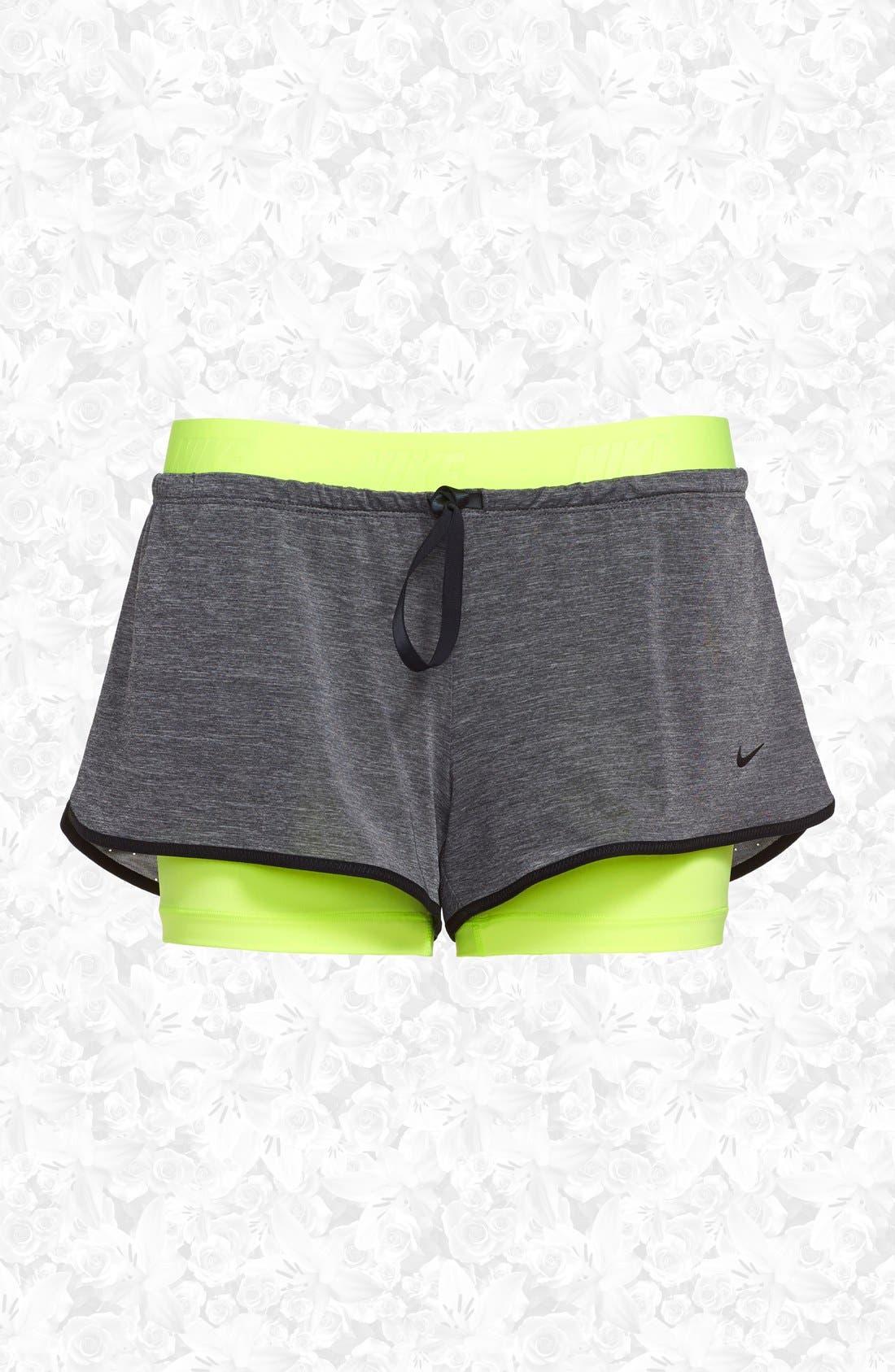 Alternate Image 1 Selected - Nike 'Pro Inside Full Flex' Dri-FIT Training Shorts (Women)