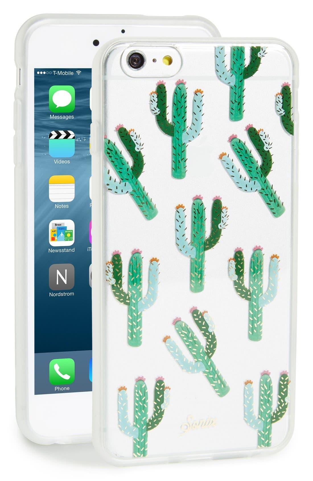Alternate Image 1 Selected - Sonix 'Clear Cactus' iPhone 6 Plus & 6s Plus Case