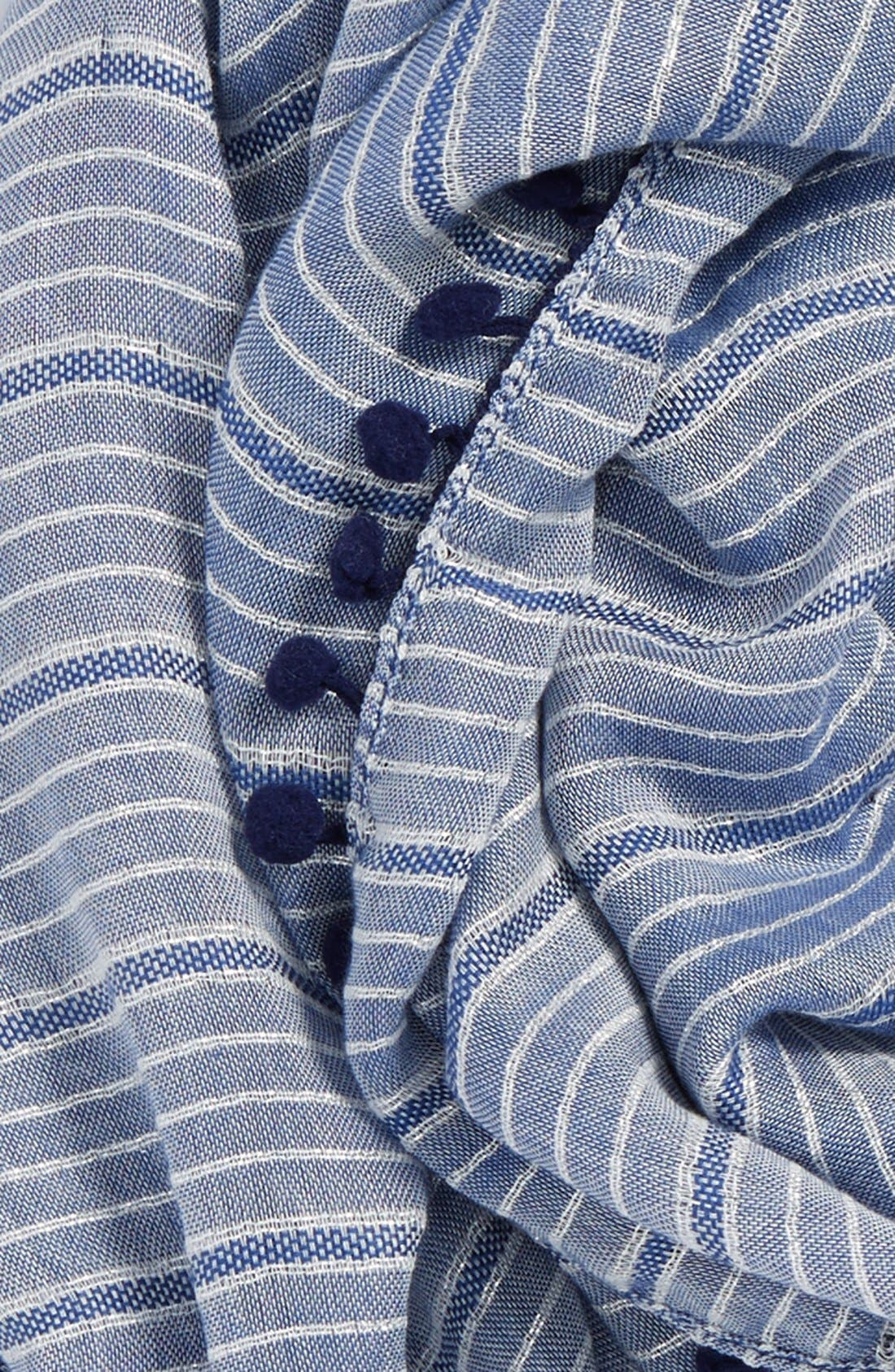 Alternate Image 3  - Halogen® 'Sparkle Stripe' Pompom Trim Scarf