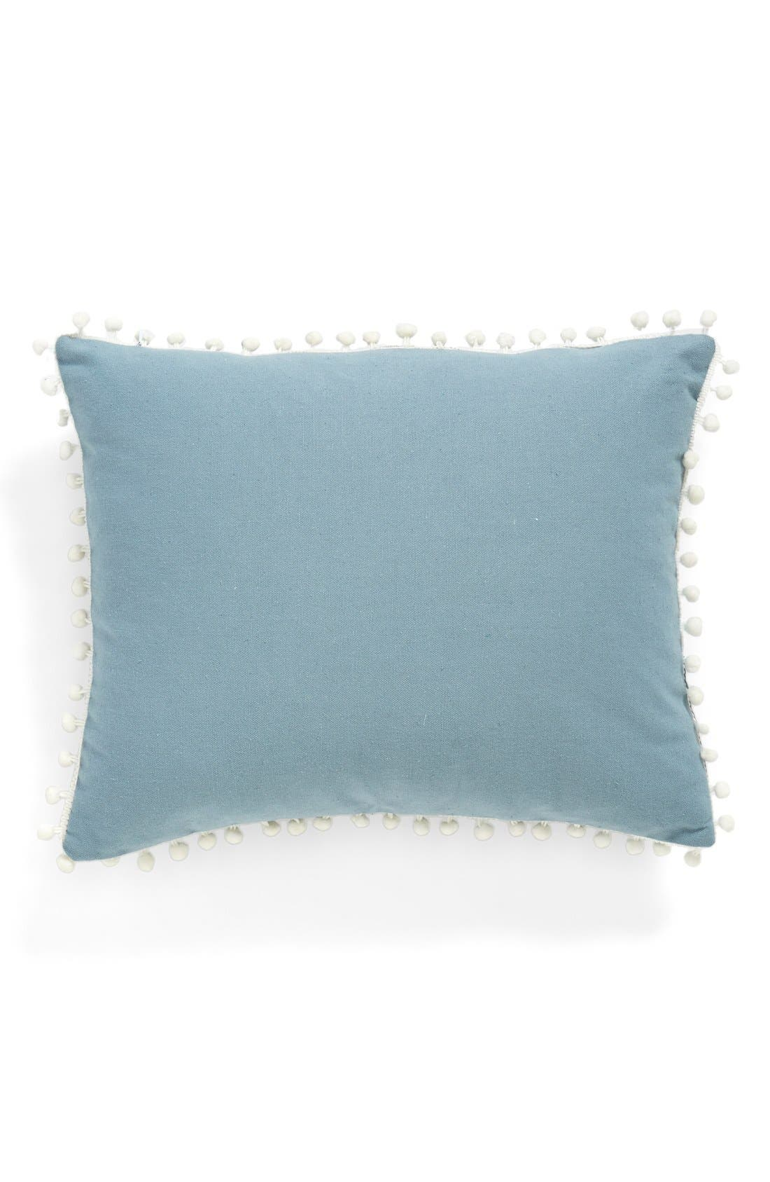 Alternate Image 2  - Levtex Chevron Pompom Pillow